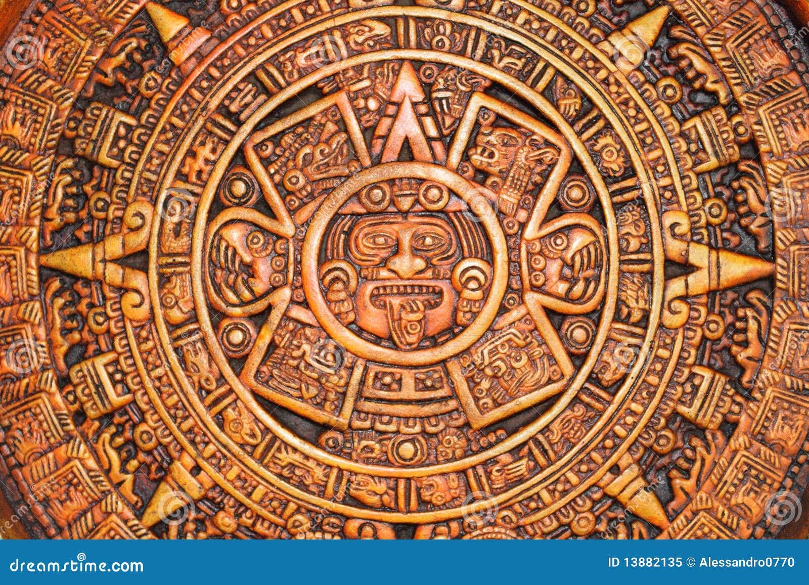 Aztec Calendar Royalty Free Stock Photo - Image: 13882135