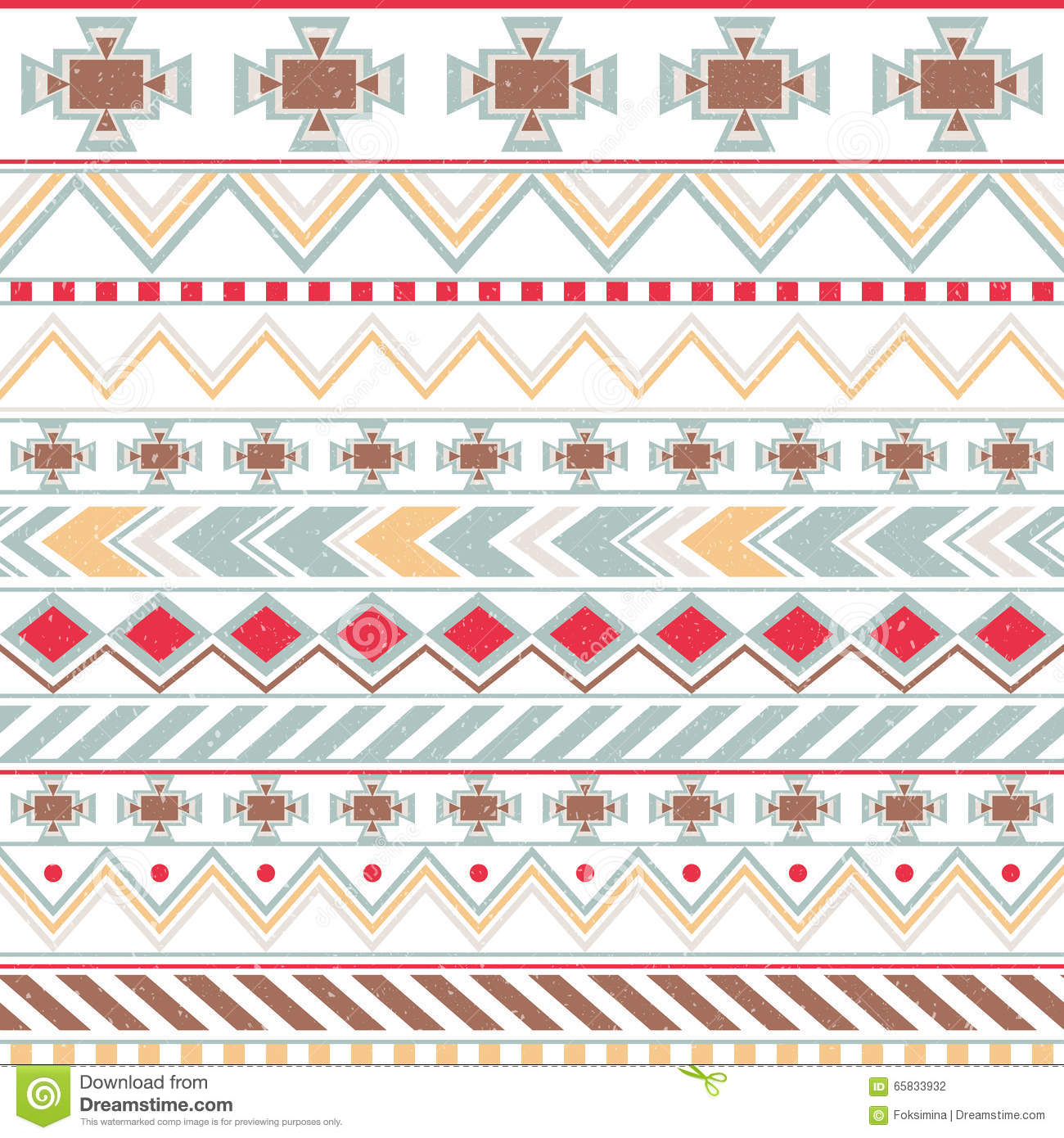 Blue Tribal Wallpapers: Aztec Colorful Ethnic Seamless Pattern, Tribal Light