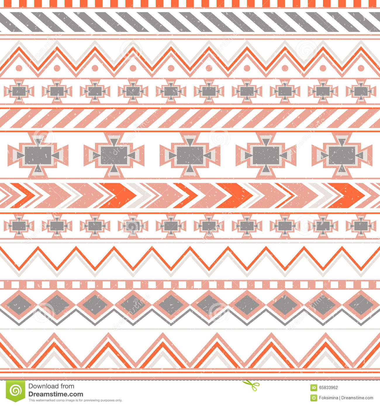 Blue Tribal Wallpapers: Aztec Colorful Ethnic Seamless Pattern, Tribal Orange And