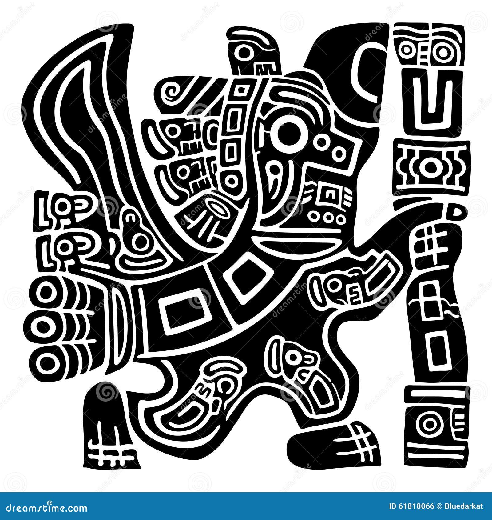 aztec eagle warrior stock vector illustration of symbol