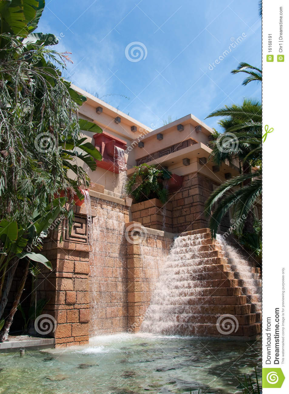 Aztec Fountain Stock Image Image Of Itza Grass Site