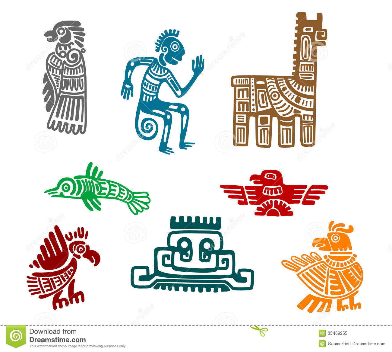 Stylized mayan symbol tattoo vector illustration stock vector aztec and maya ancient drawing art royalty free stock photo biocorpaavc