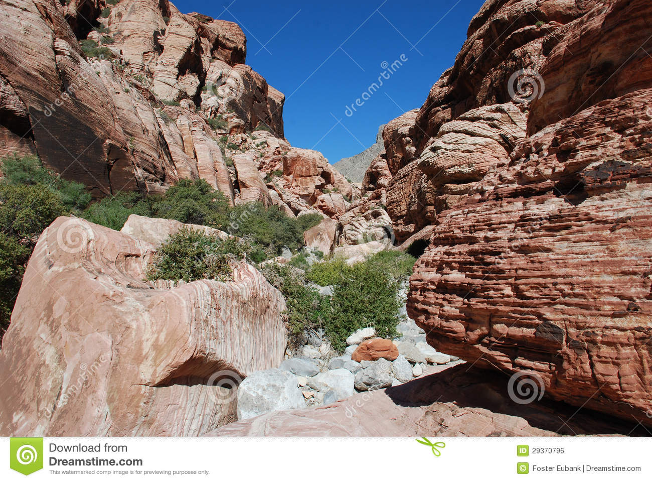 Aztec Sand Stone Rock Formation Near Red Rock Canyon