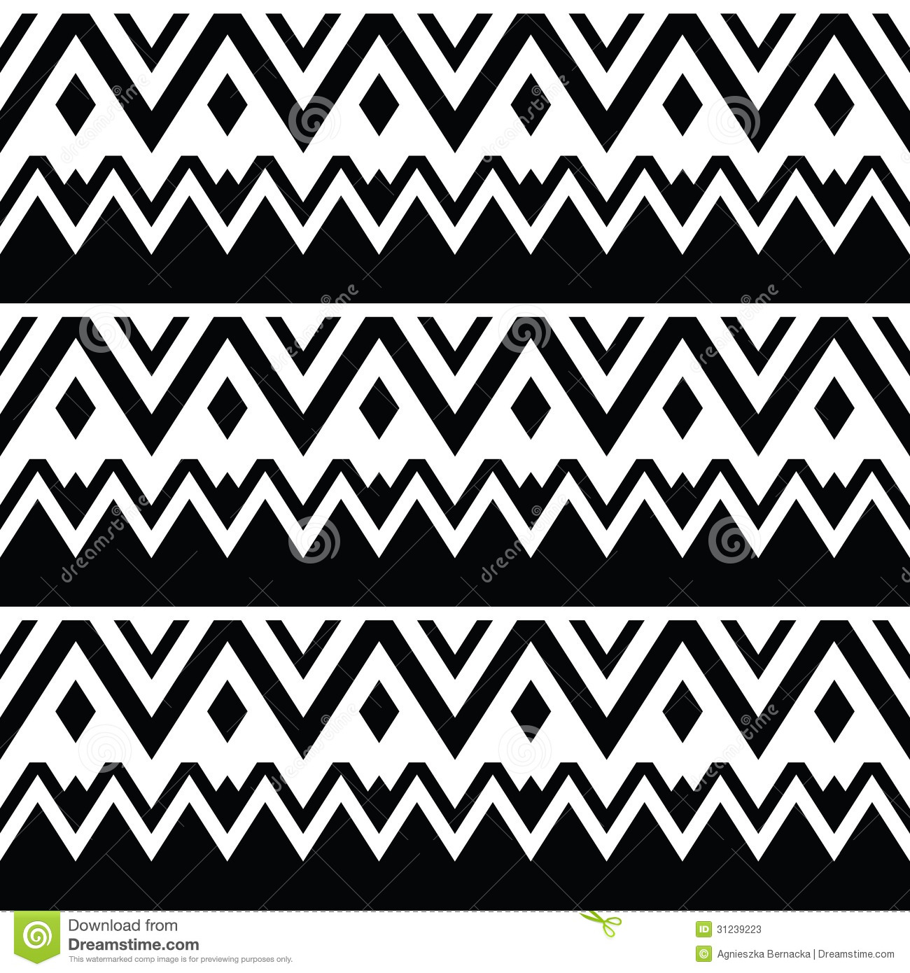 Background geometric mexican patterns seamless vector zigzag maya - Aztec Seamless Pattern Tribal Black And White Background Stock Photos