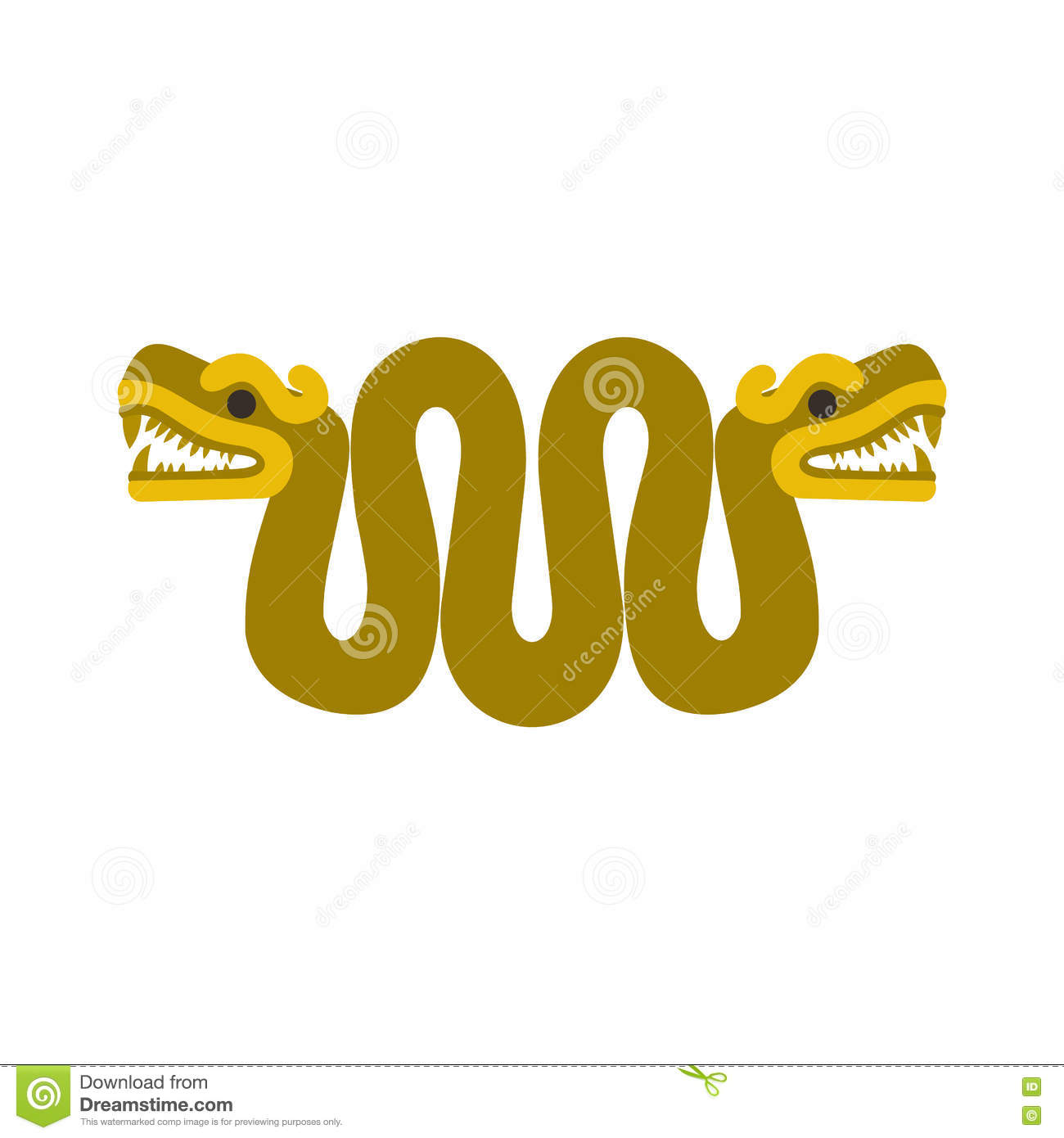 031de7bba Aztec snake with two heads icon in flat style isolated on white background.  Designers Also Selected These Stock Illustrations