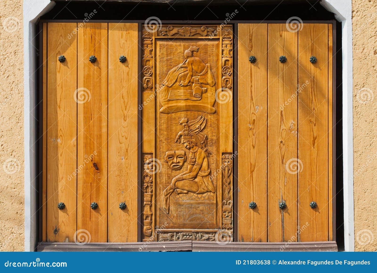 Aztec stadsmexico motiv