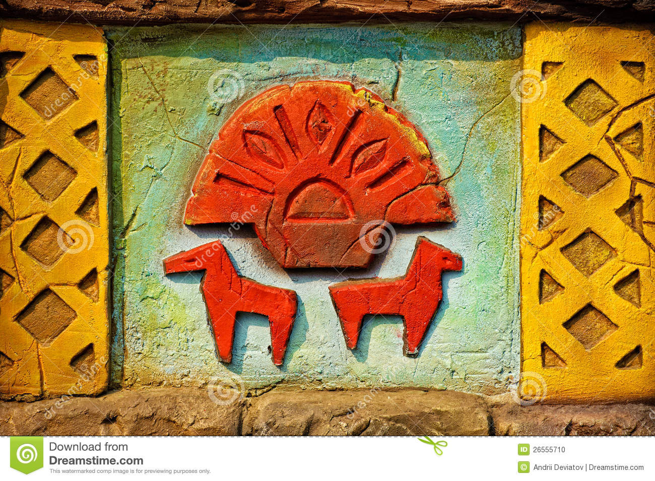 Aztec style wall decoration stock photo image 26555710 for Aztec decoration