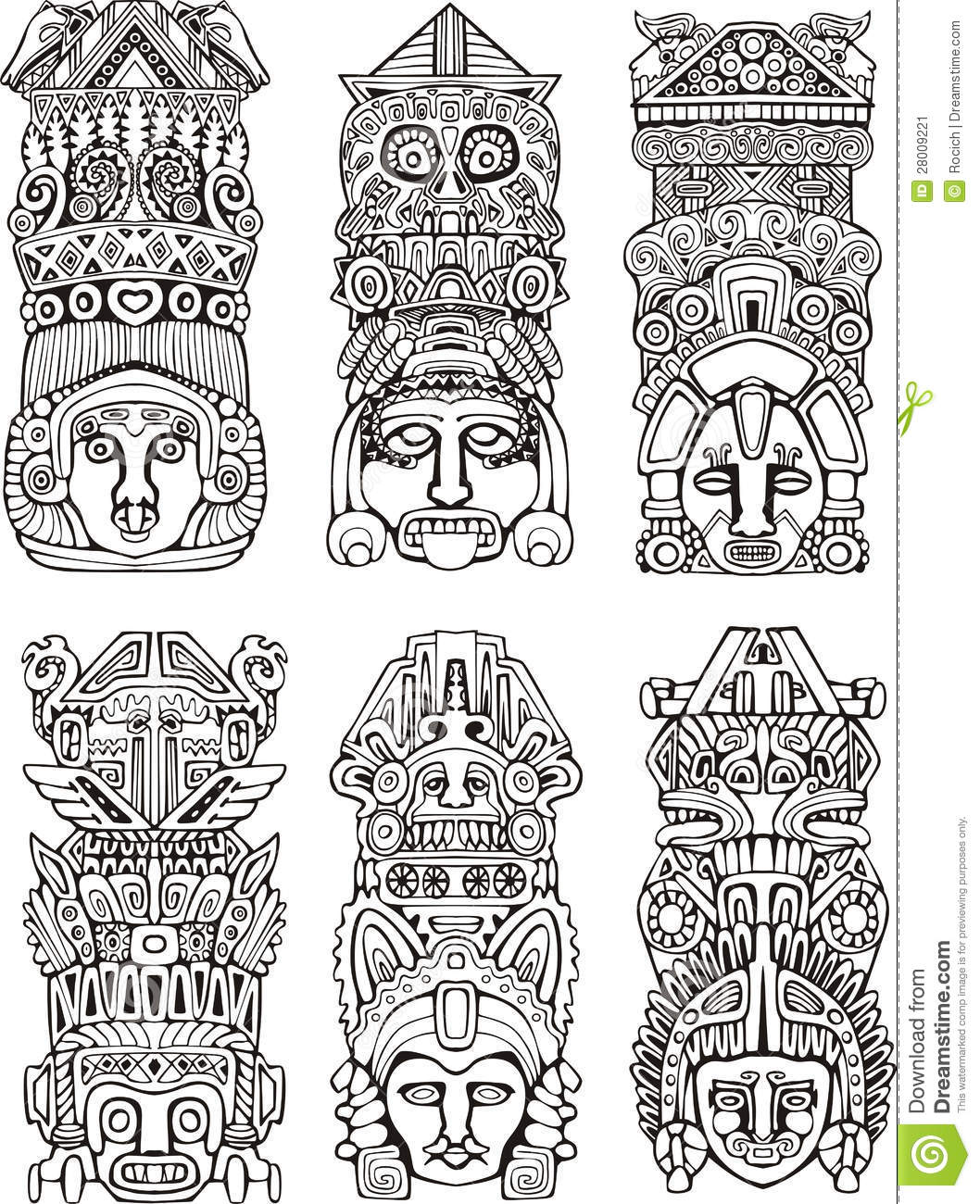 Totem Pole Design Template