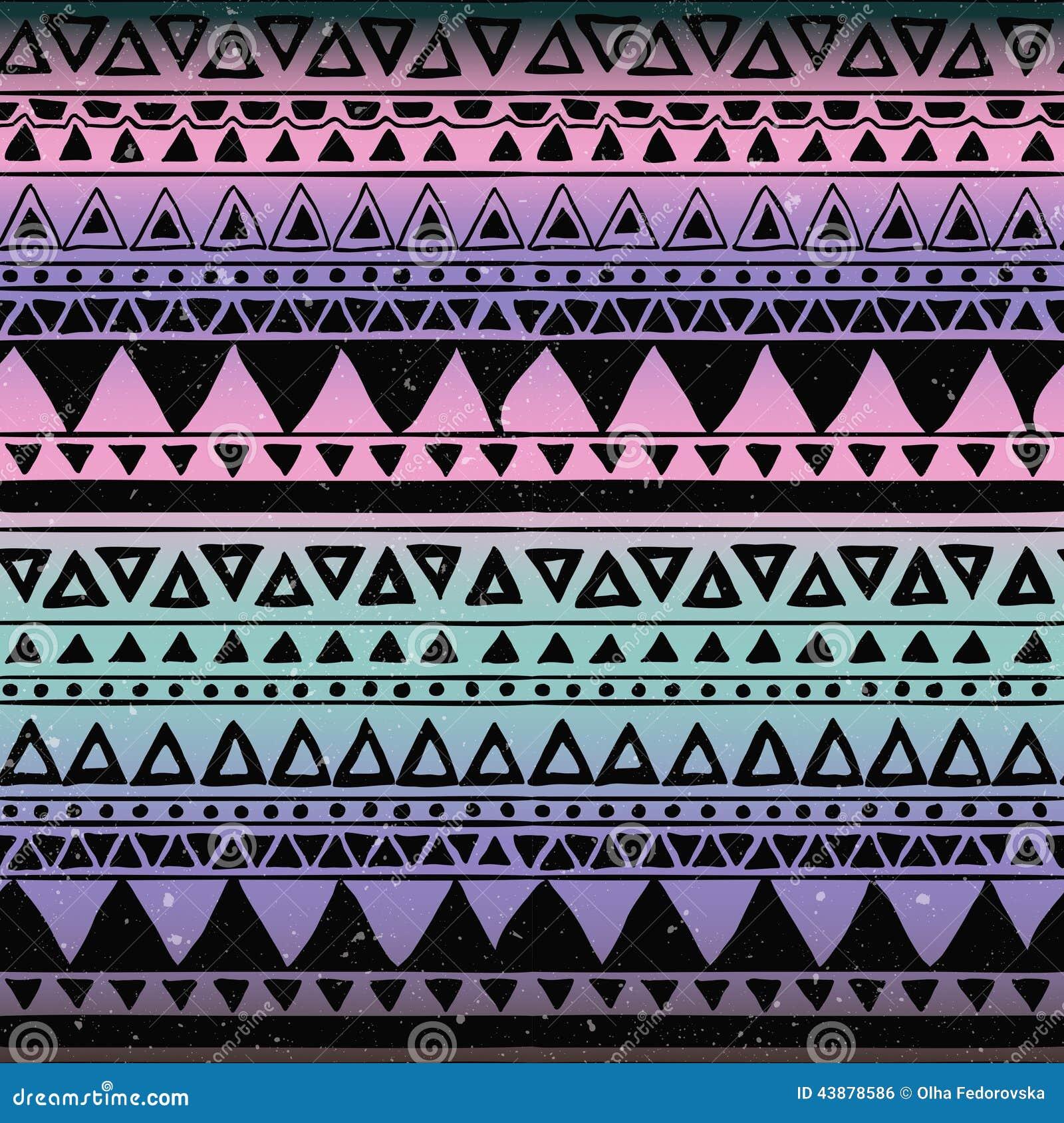 Aztec Tribal Patterns Easy