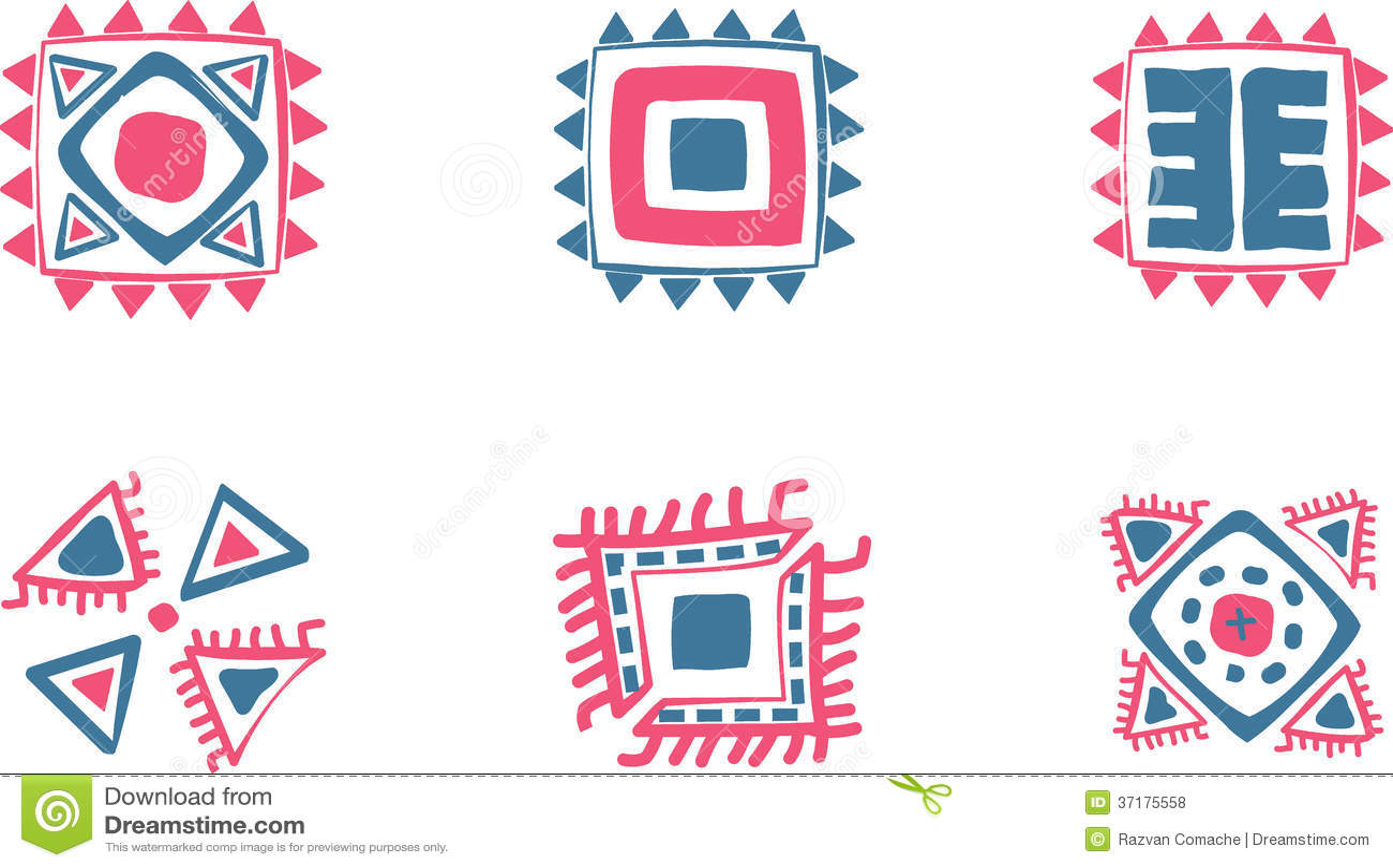 Aztec vector symbols stock vector illustration of accurate 37175558 aztec vector symbols buycottarizona