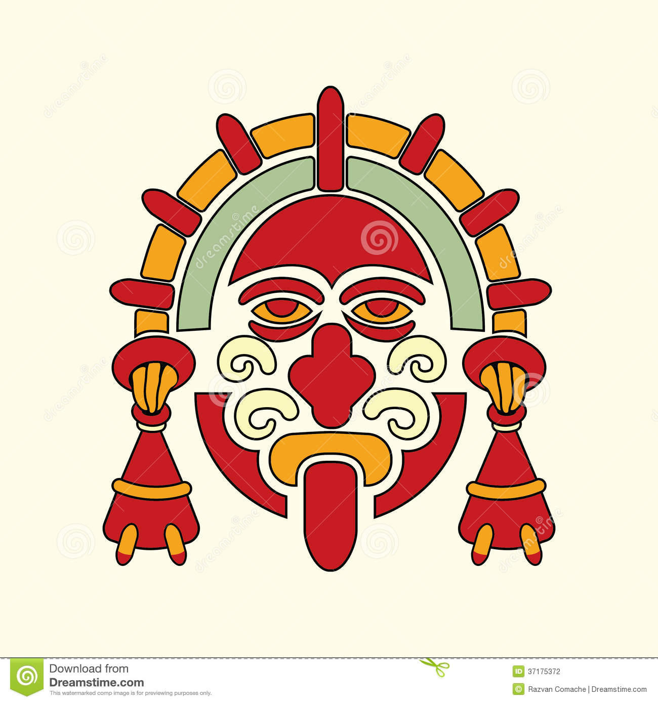 aztec warrior symbol stock vector illustration of aztec 37175372