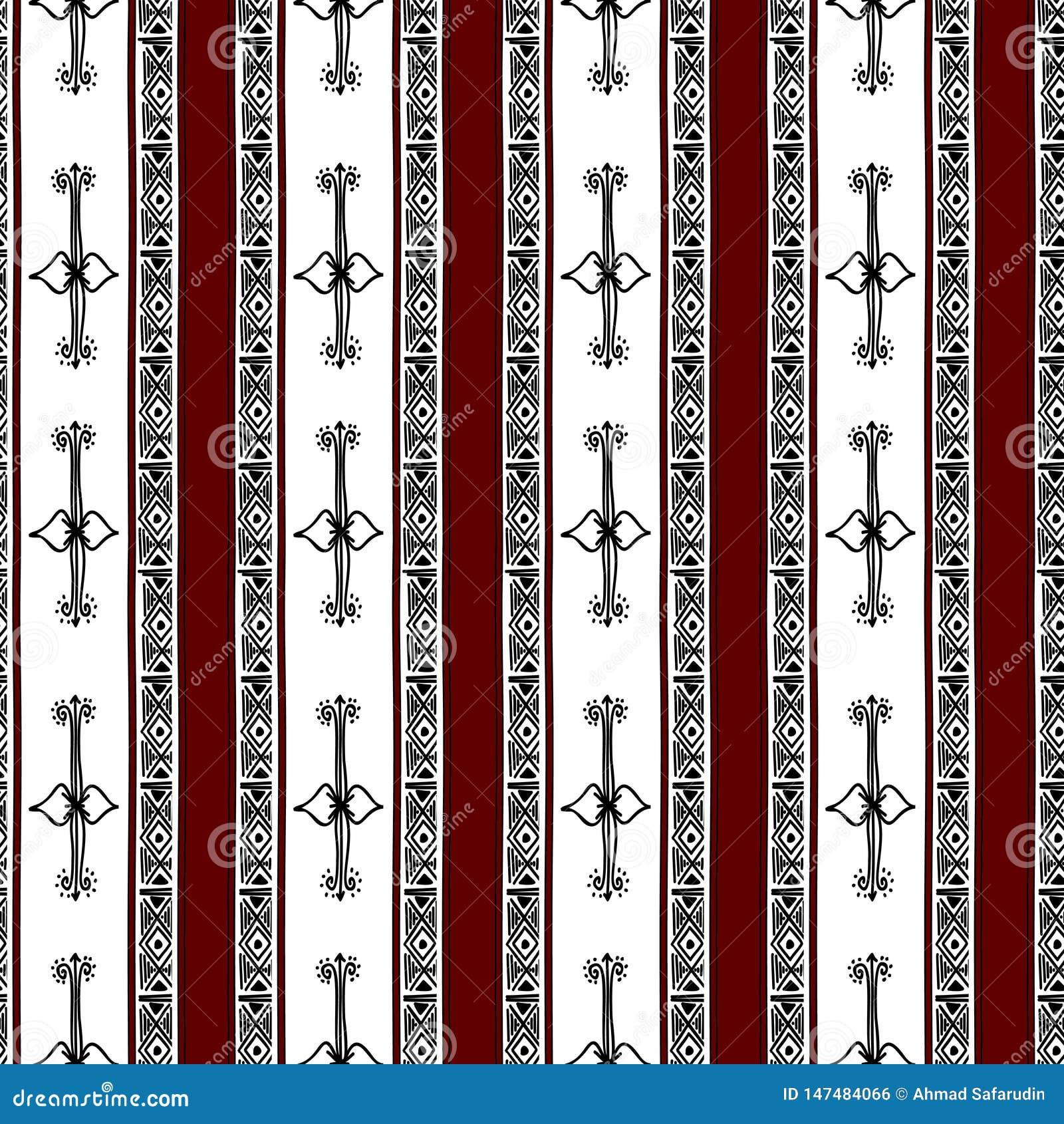 Azteka bezszwowy wz?r z unikalna plemienna r?ka rysuj?cym multicolor t?em Etnicznego rysunkowego symbolu wektorowa ilustracja dla