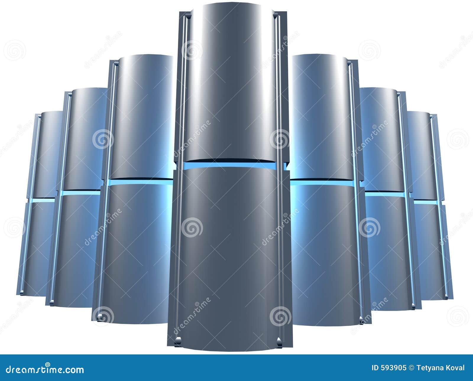 Azul da exploração agrícola do server