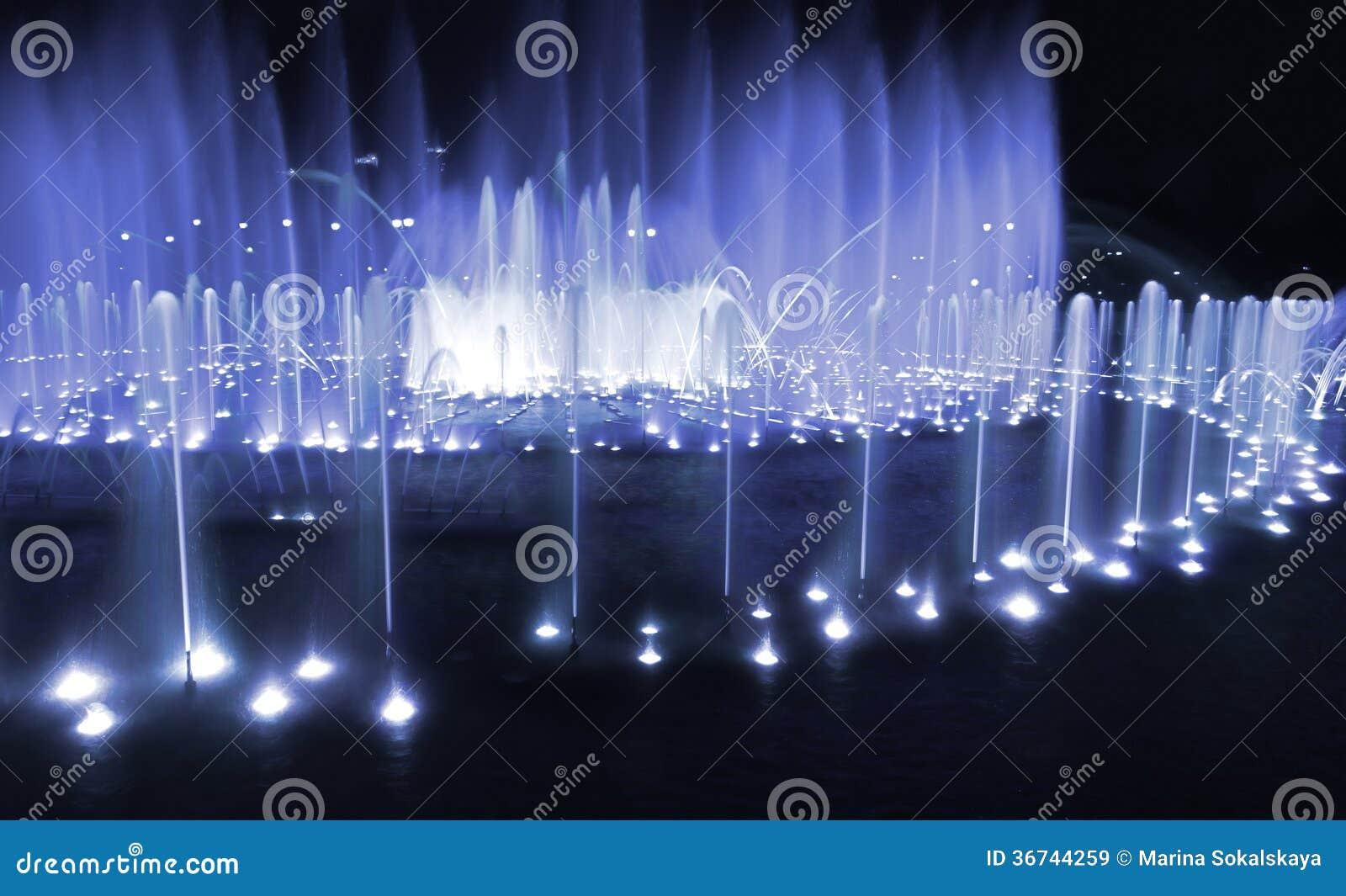 Azul da noite da fonte