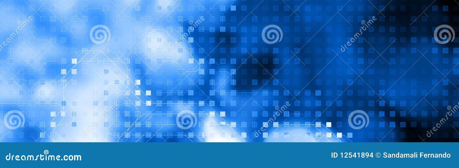 Azul de la cabecera del Web de la tecnología