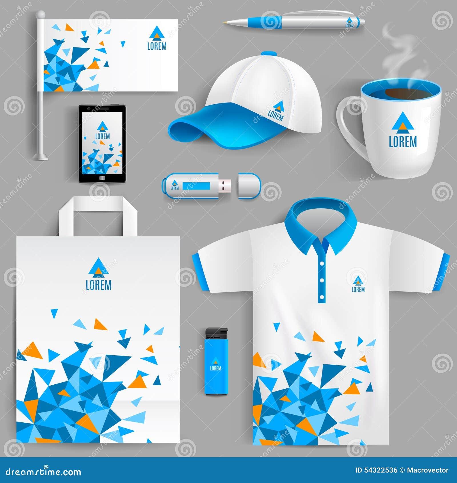 Azul de la identidad corporativa