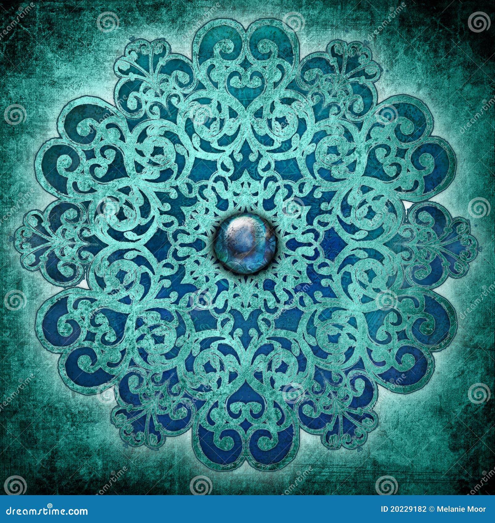 Azul de la mandala de la paz