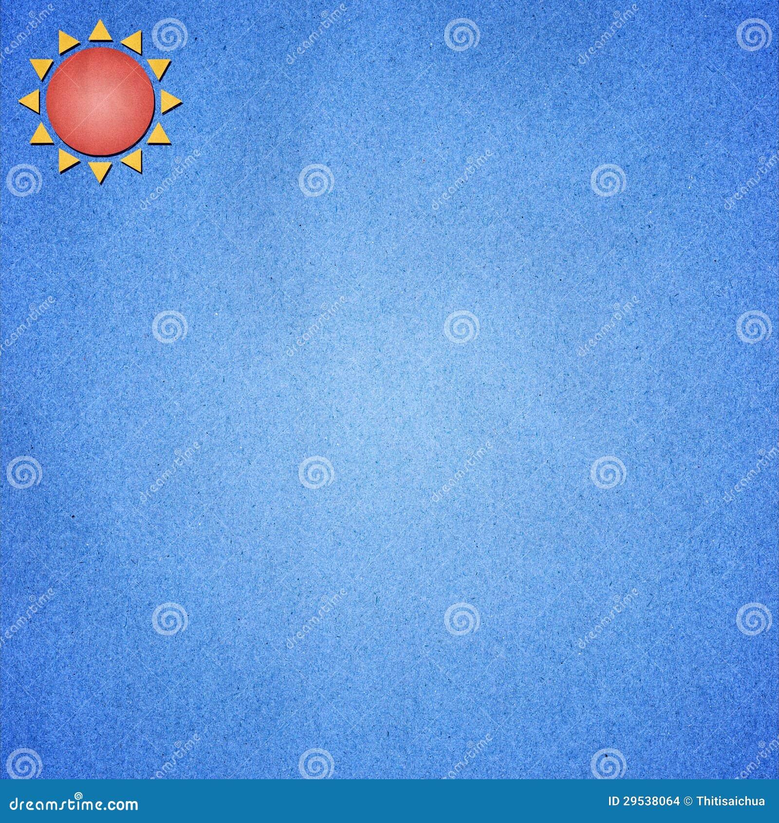 Azul de papel da arte uma de Sun