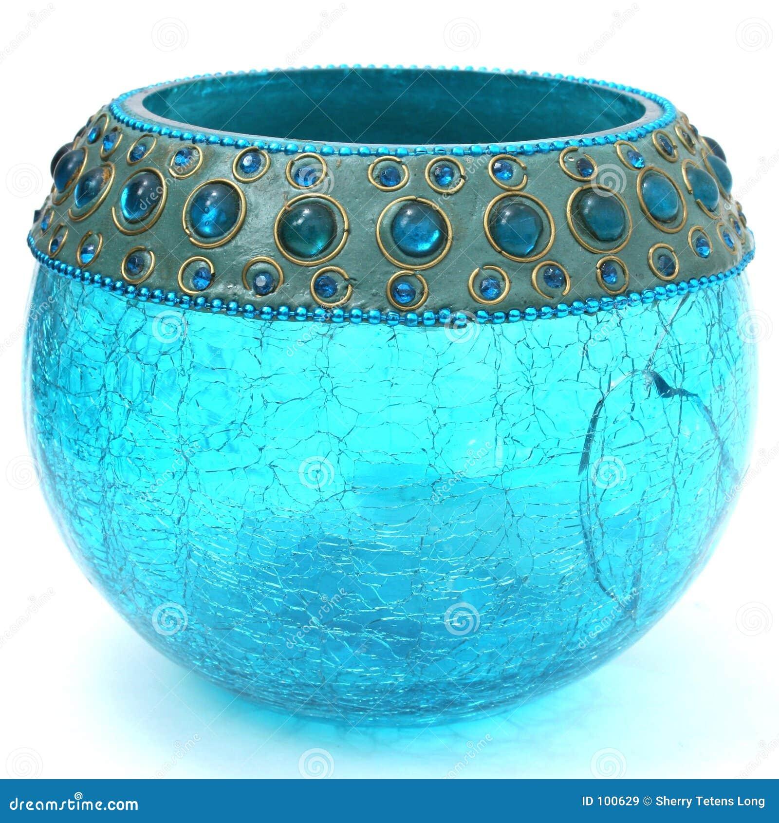 Azul de turquesa Crackled Votive