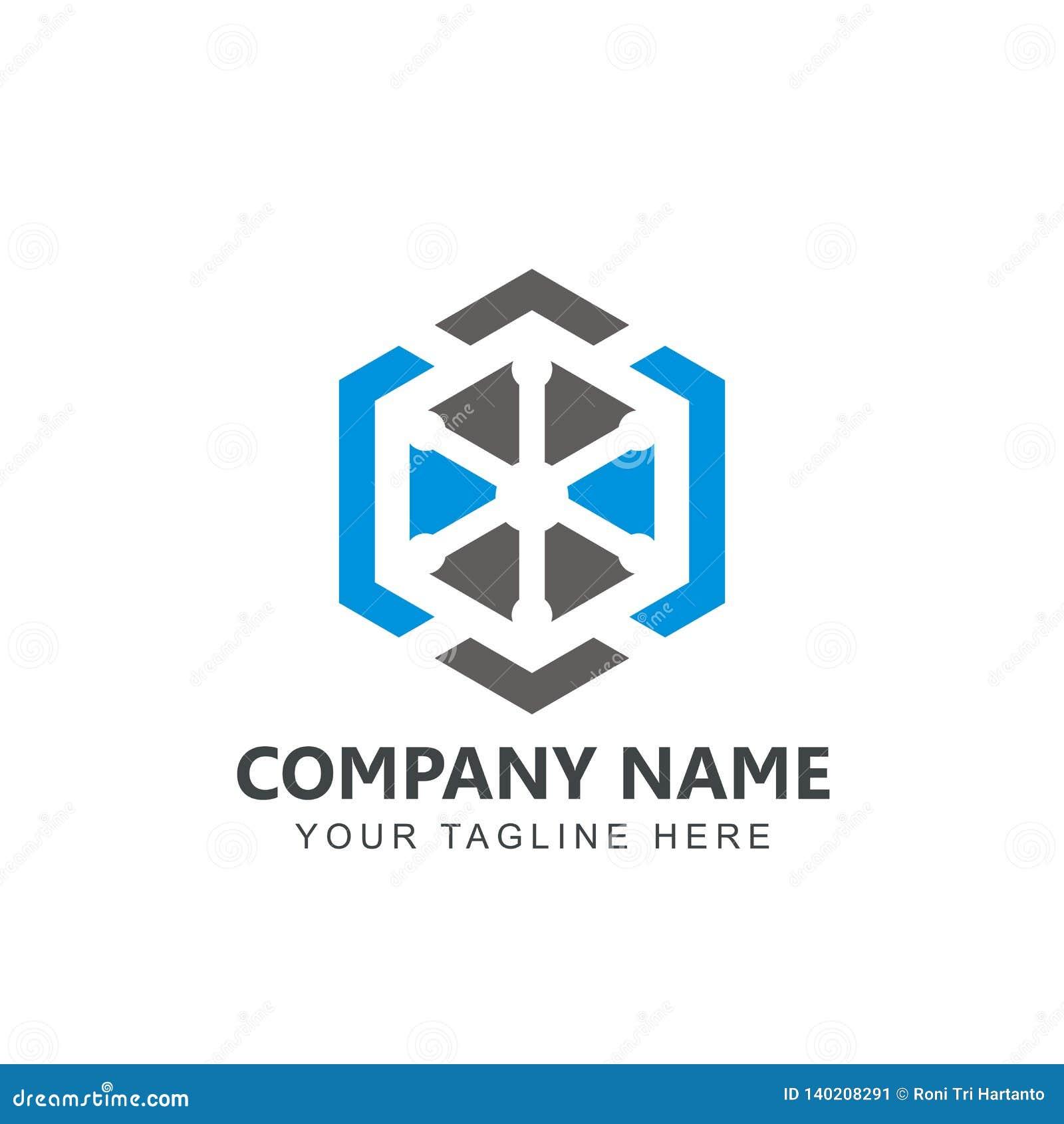 Azul del vector de la inspiración de Logo Design del cubo, negro