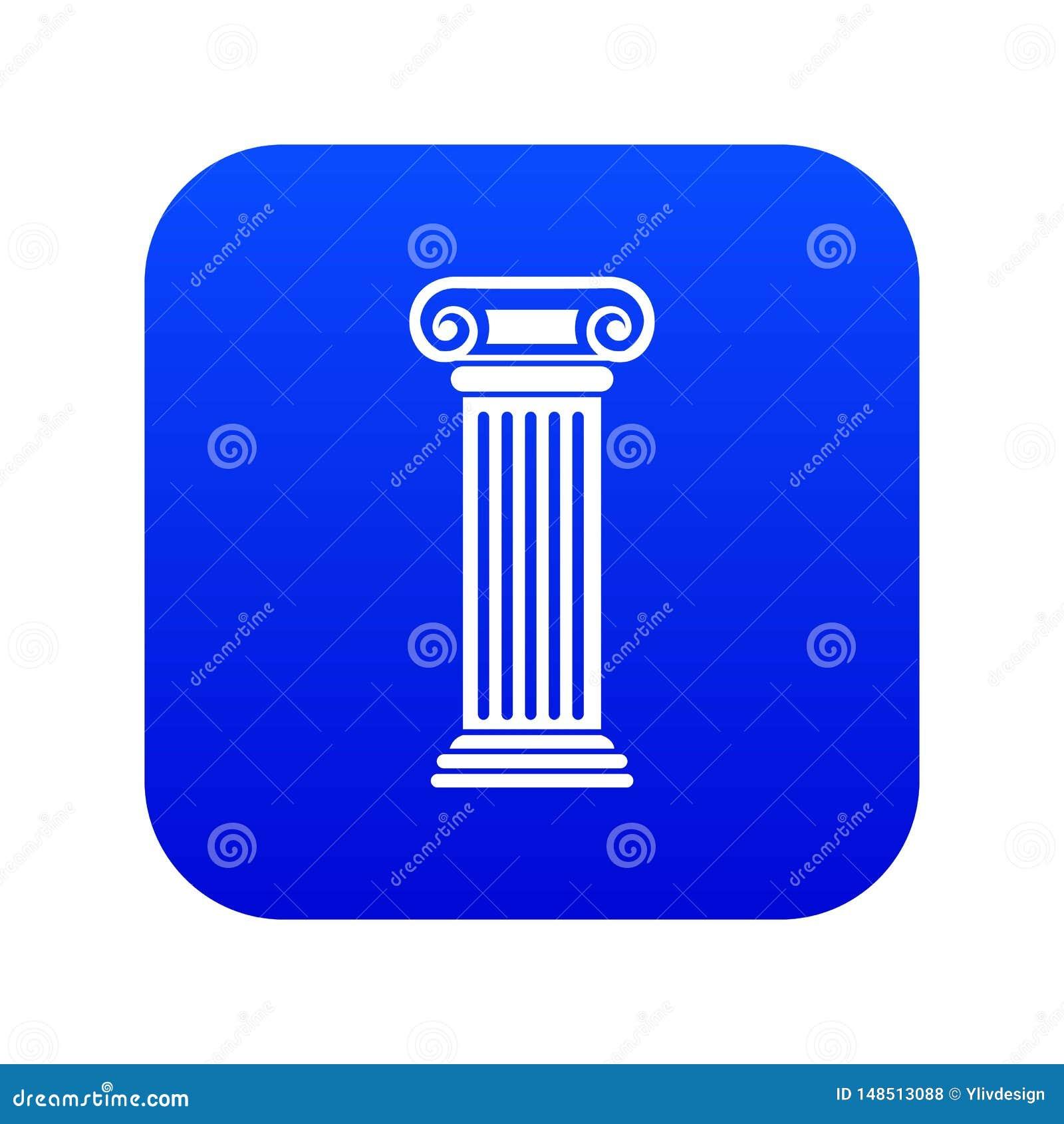 Azul digital do ?cone romano da coluna