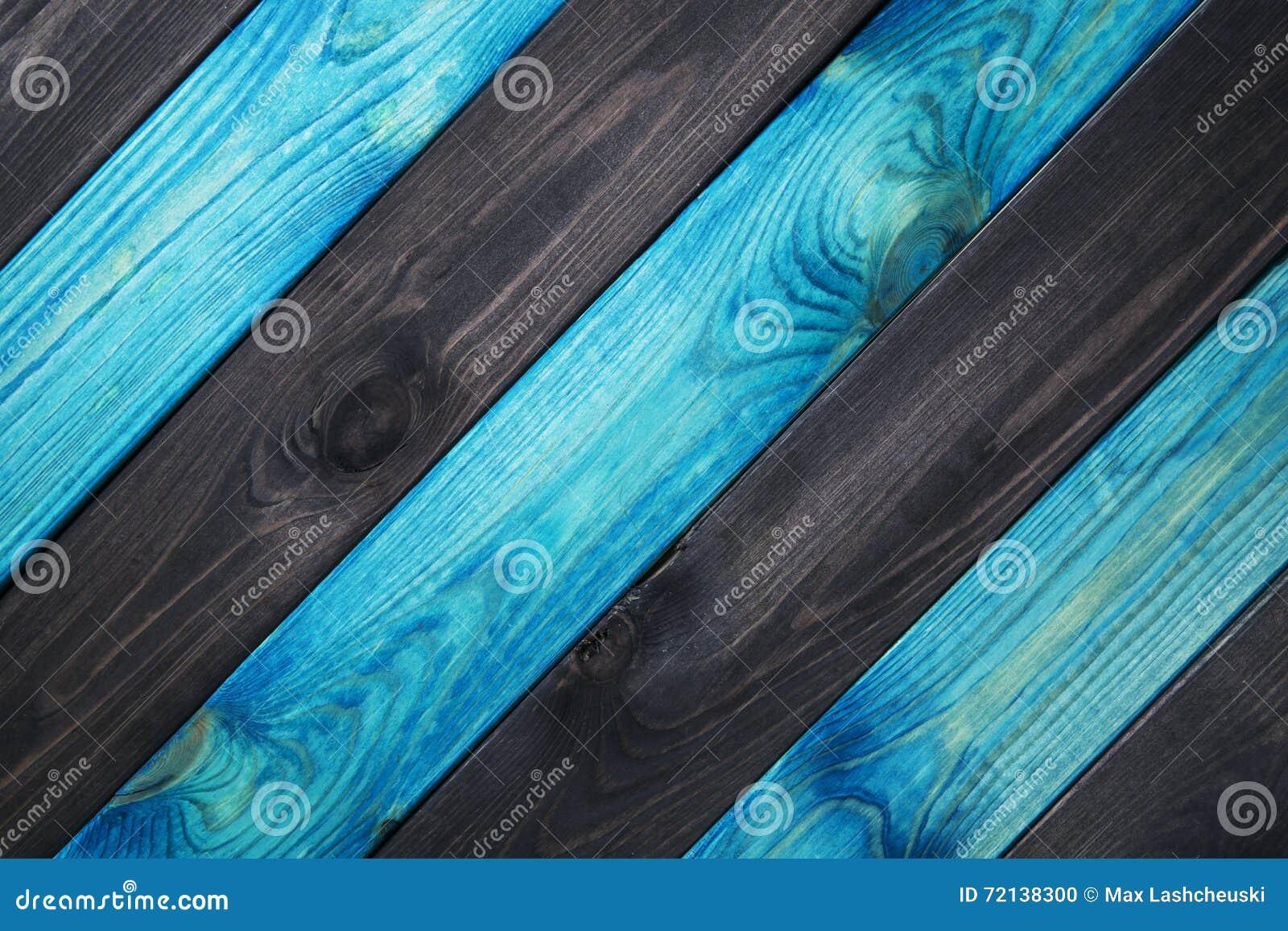 Azul e escuro - fundo de madeira azul da textura