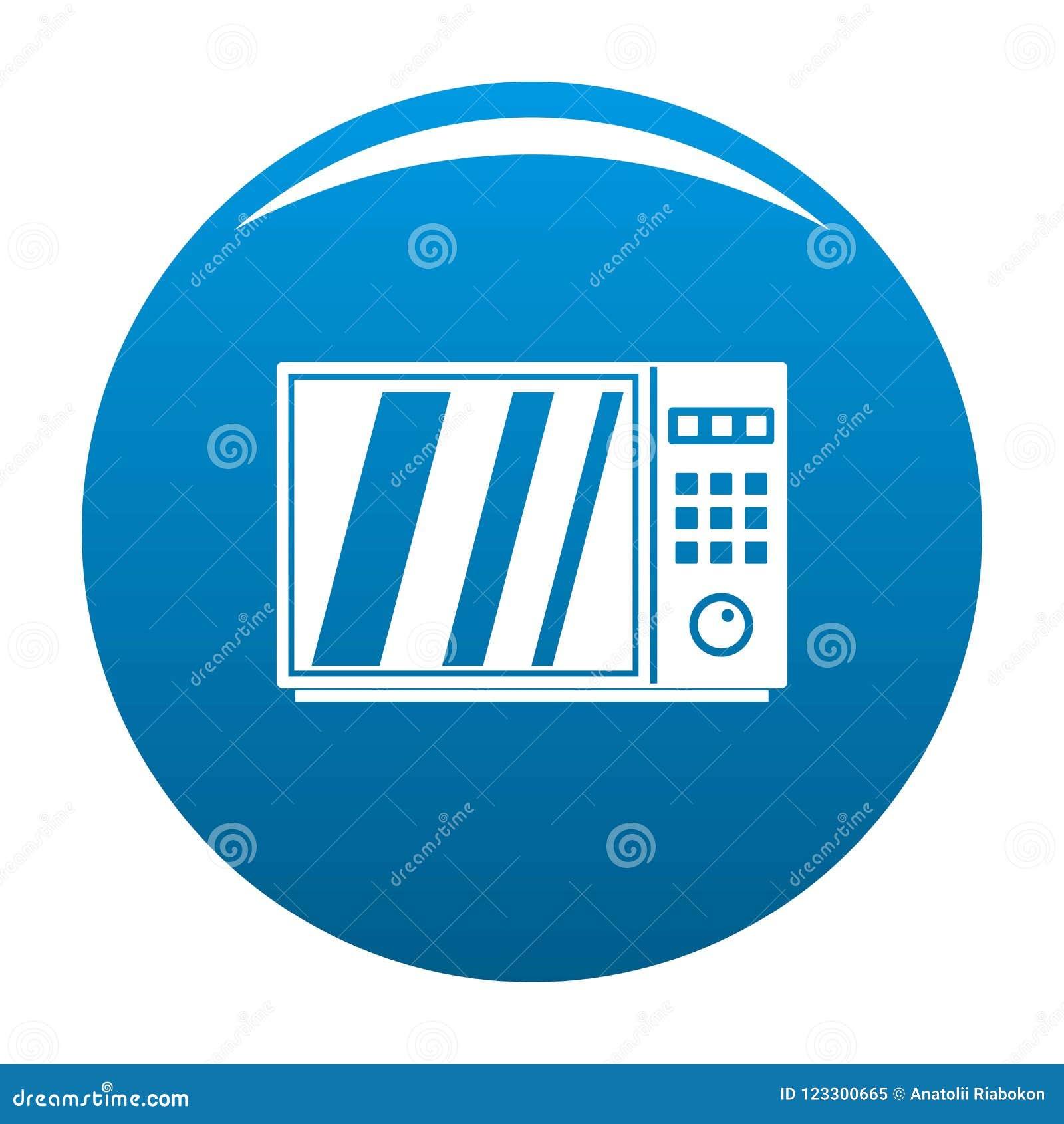 Azul eléctrico del icono del horno de microondas