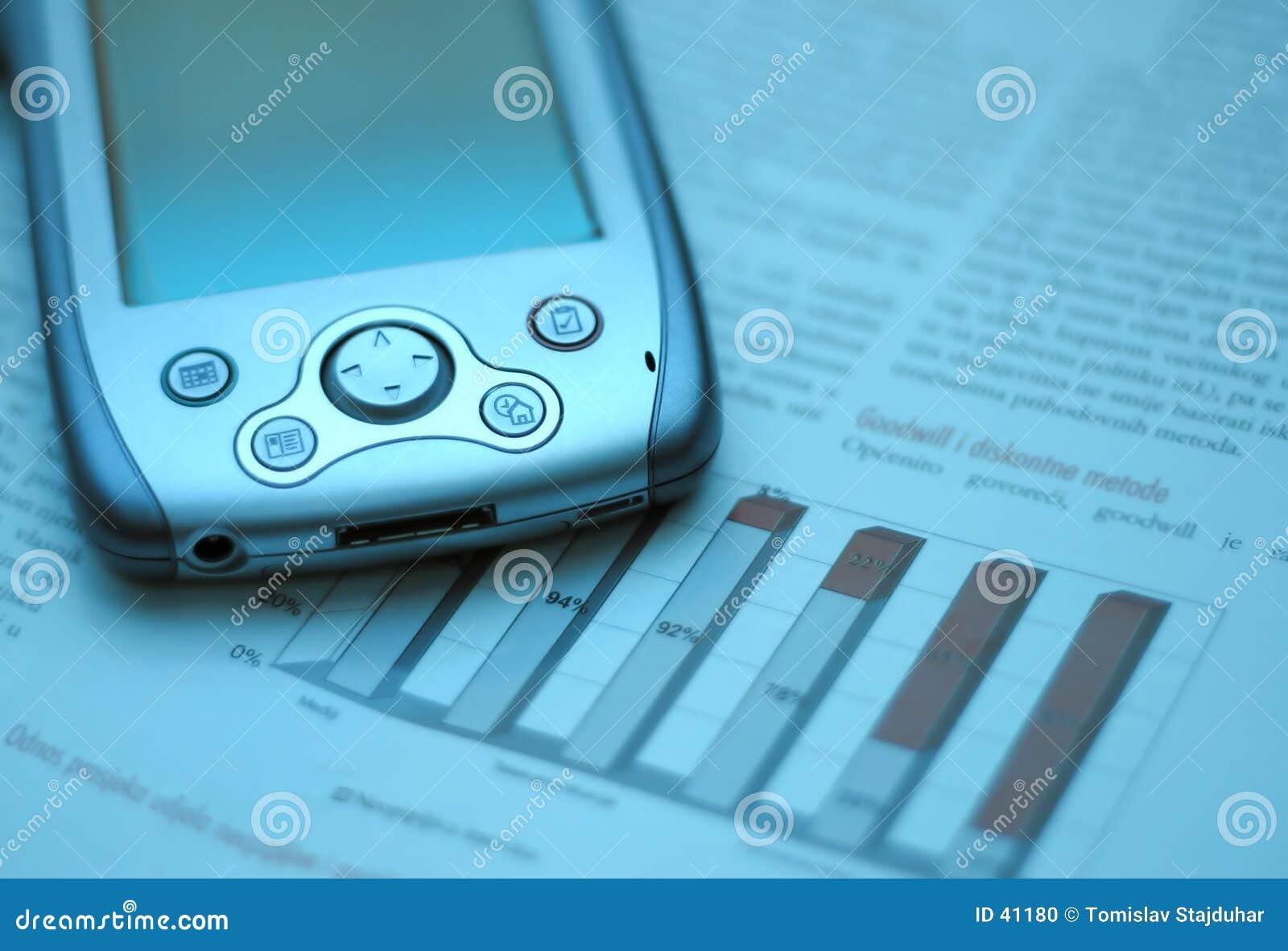 Azul financeiro da carta do negócio do mercado de valores de acção