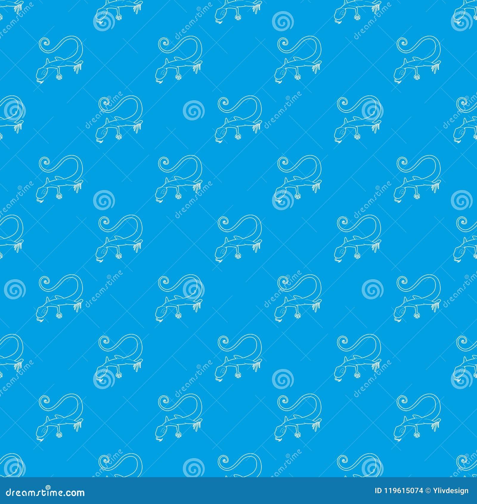 Azul inconsútil del vector del modelo del lagarto
