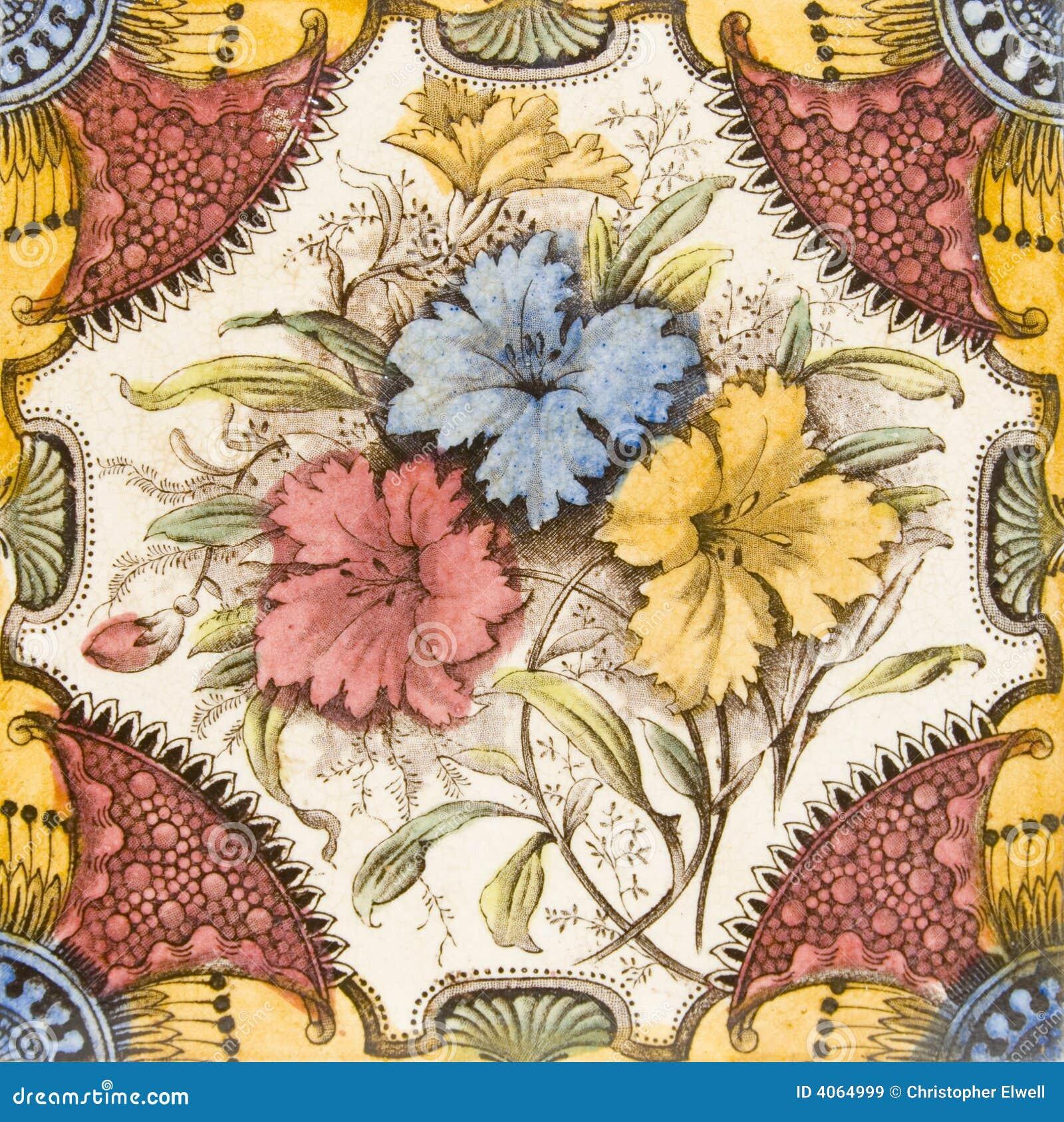 Azulejo antiguo del Victorian