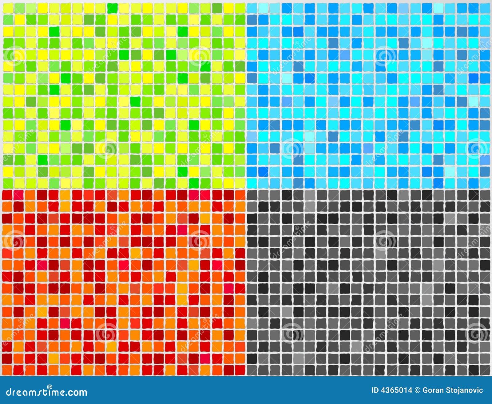 Azulejo de mosaico del vector 4 colores imagenes de - Mosaicos de colores ...