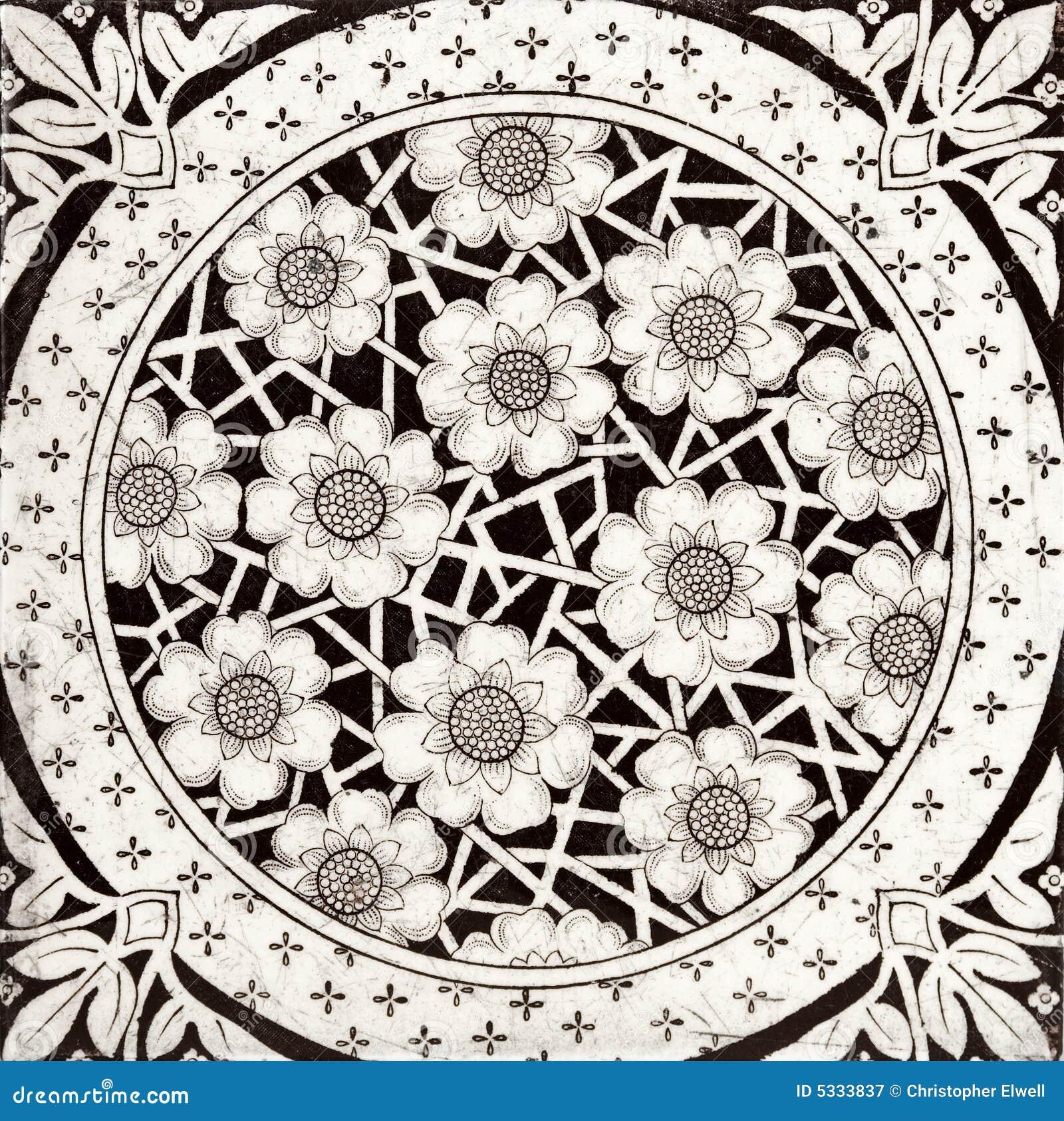 Azulejo negro y blanco fotograf a de archivo libre de - Azulejo negro ...
