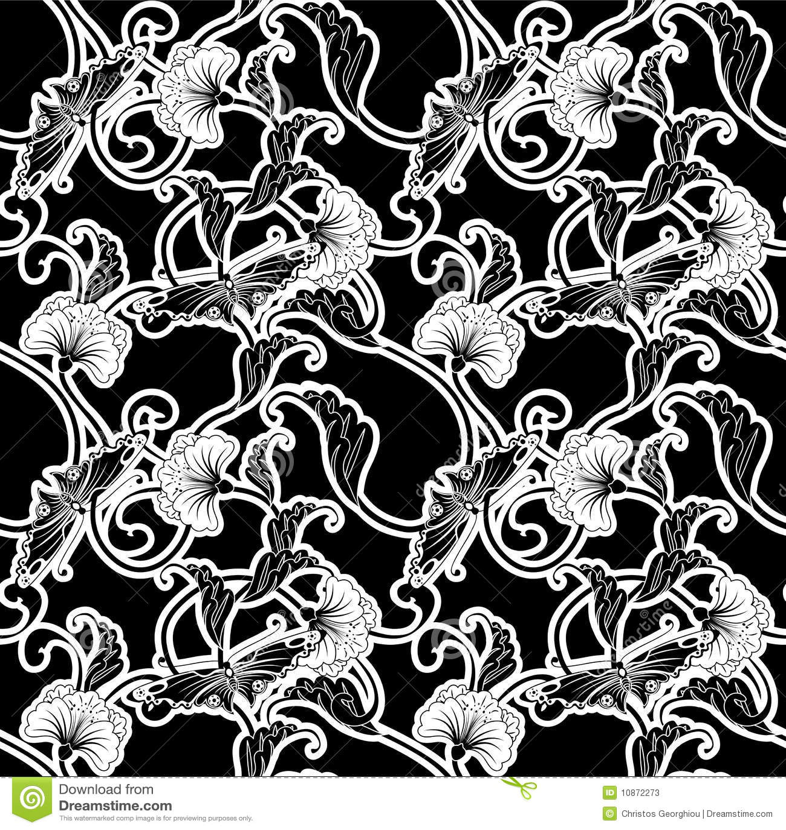 Azulejo que relanza blanco y negro adornado ilustraci n for Azulejo a cuadros blanco y negro barato