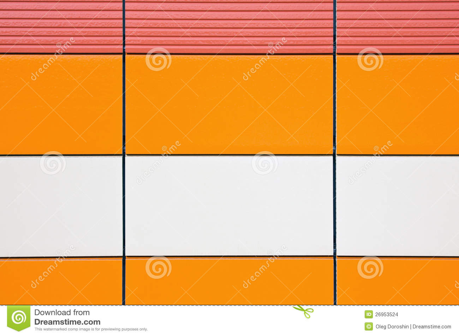 Azulejos anaranjados y amarillentos para el exterior del for Azulejos pared exterior