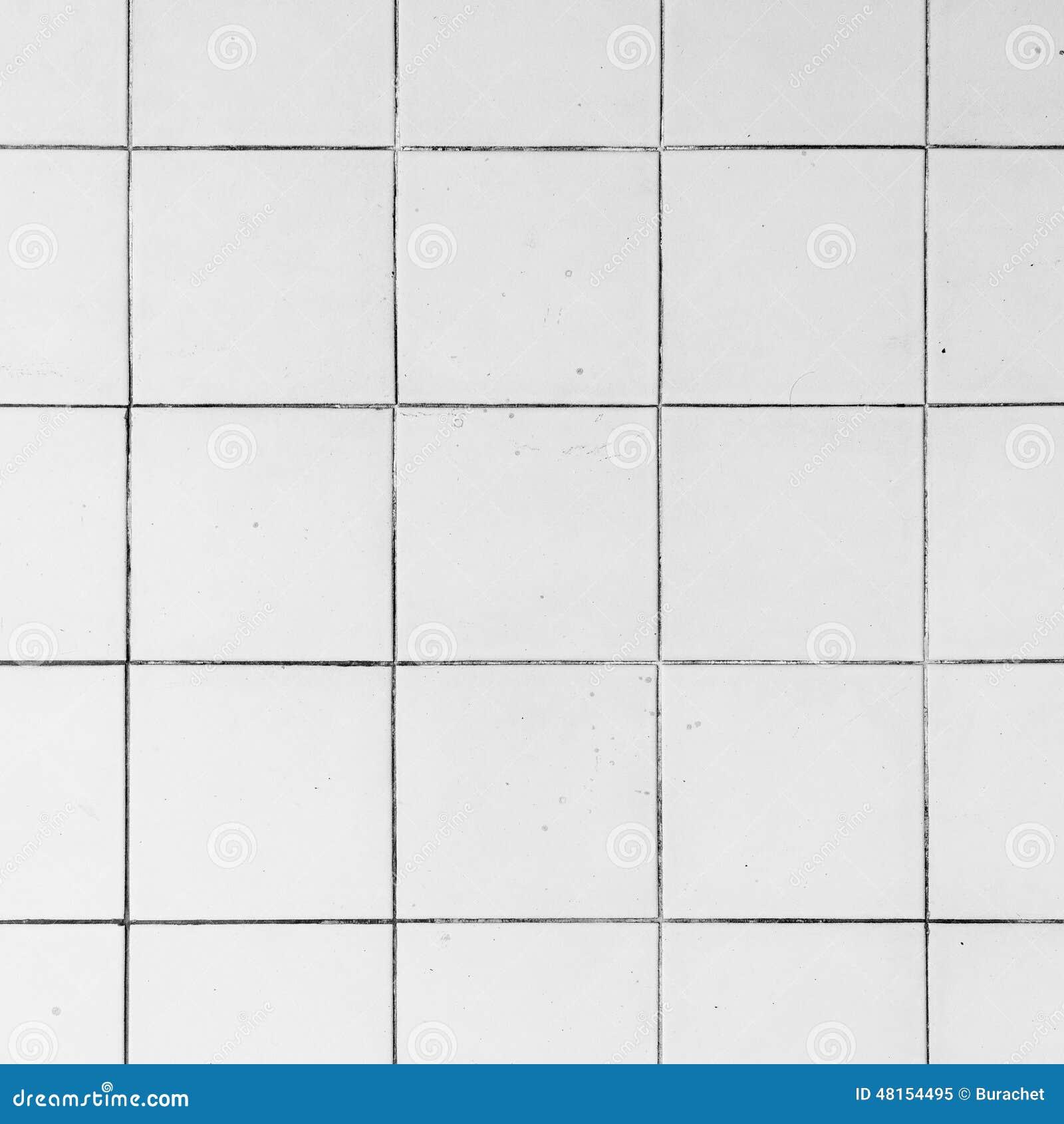 Juntas Baldosas Baño:Azulejos Blancos Foto de archivo – Imagen: 48154495