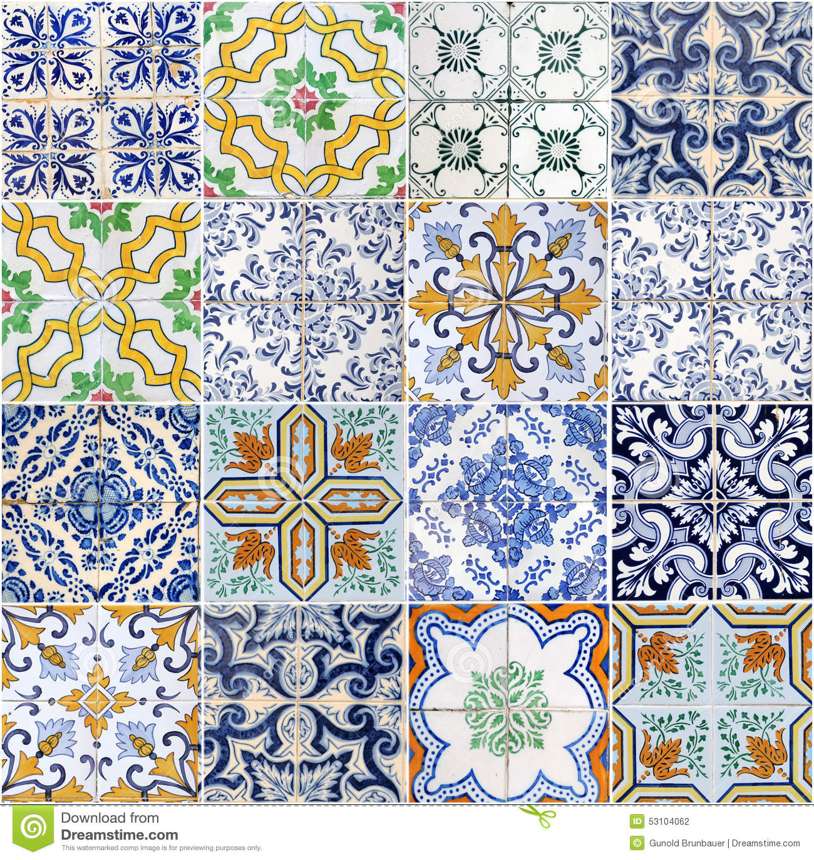 Azulejos Stock Photo Image 53104062