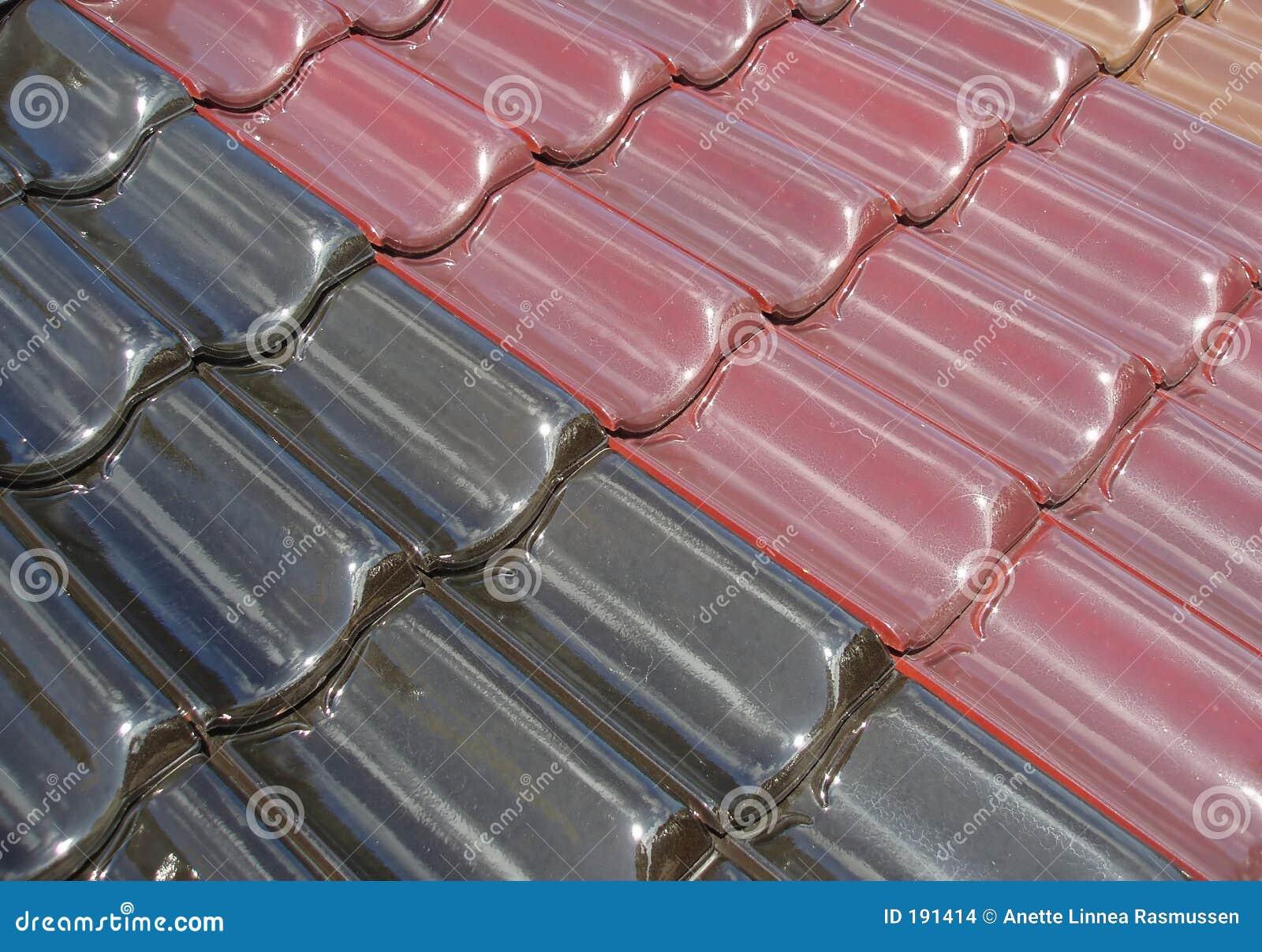 Azulejos de azotea coloreados