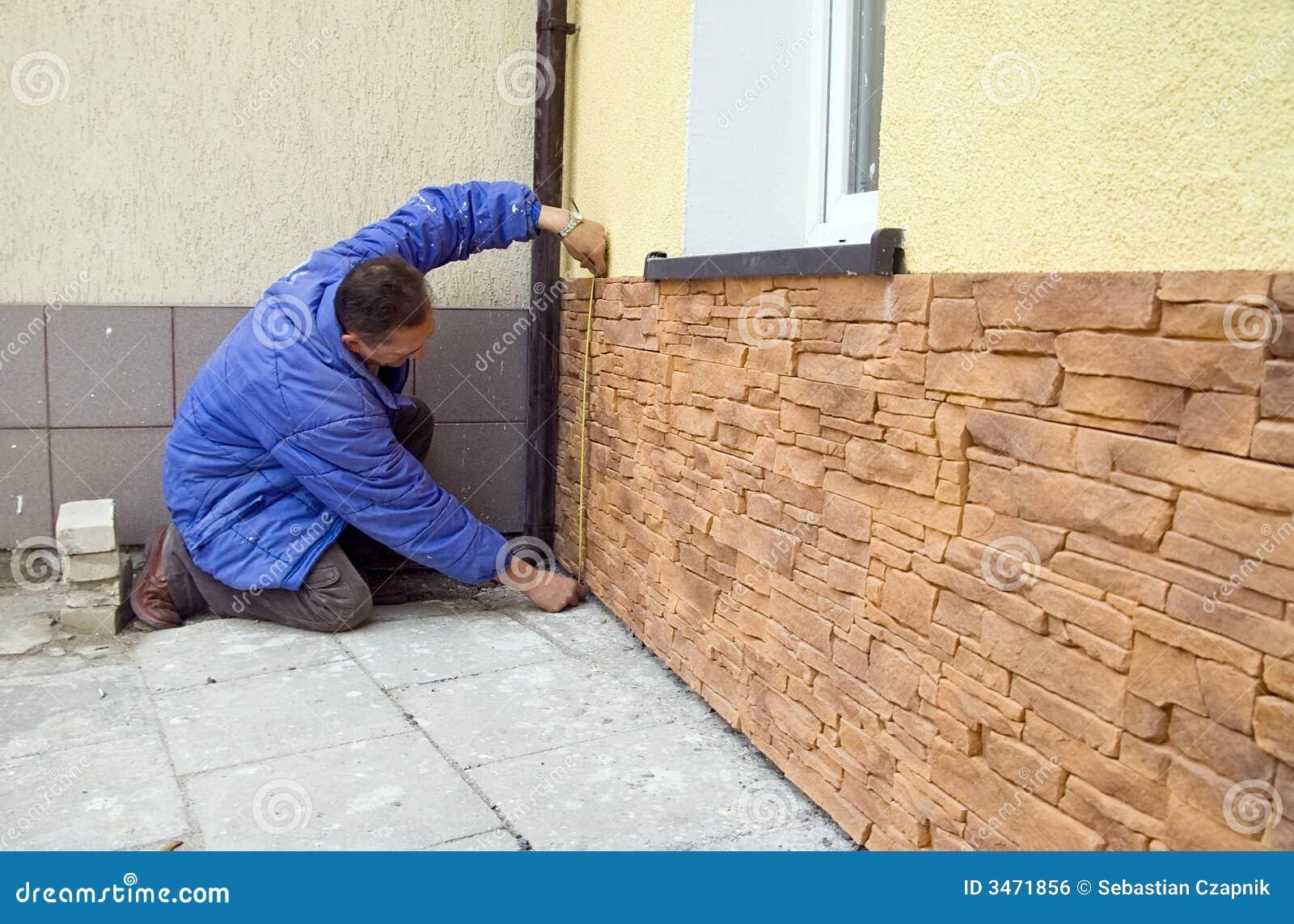 Azulejos de la piedra arenisca foto de archivo imagen de construcci n casero 3471856 - Construccion casa de piedra precio ...