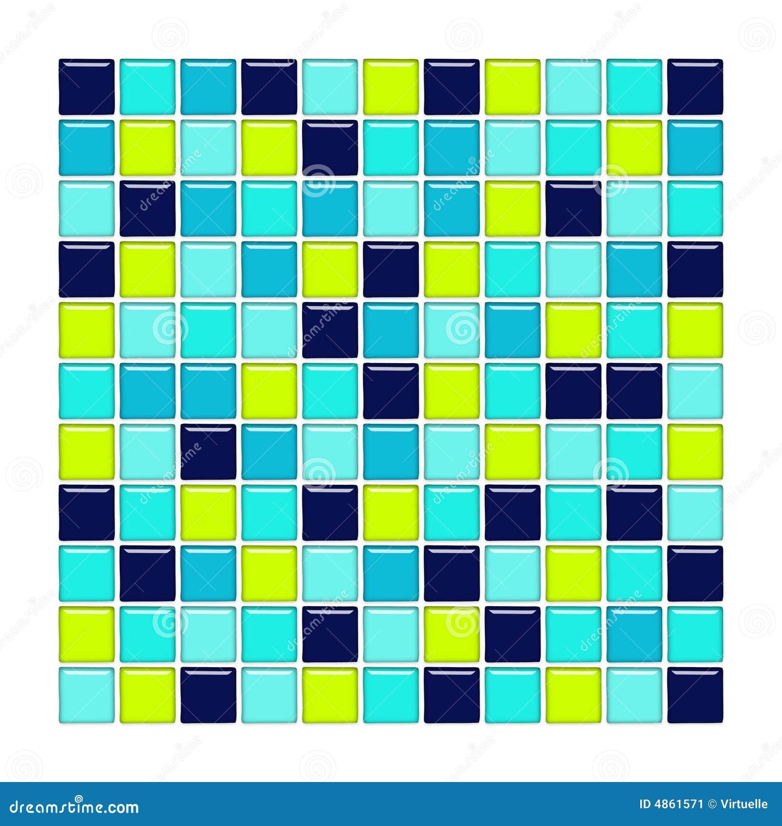 Azulejos Baño Vidrio: con los azulejos de mosaico del azul, del aqua y del vidrio verde
