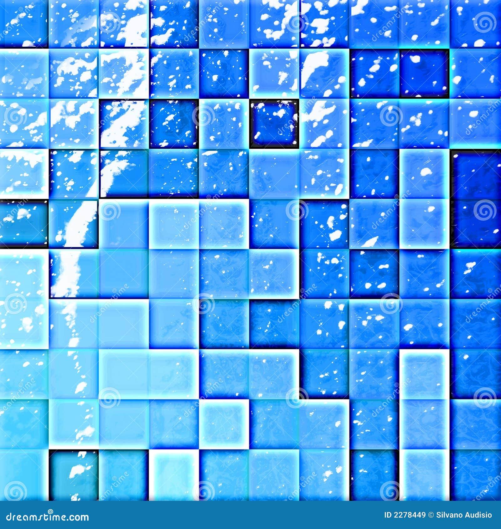 Azulejos del cuarto de ba o abstracto azules im genes de - Azulejos para cuarto de bano ...