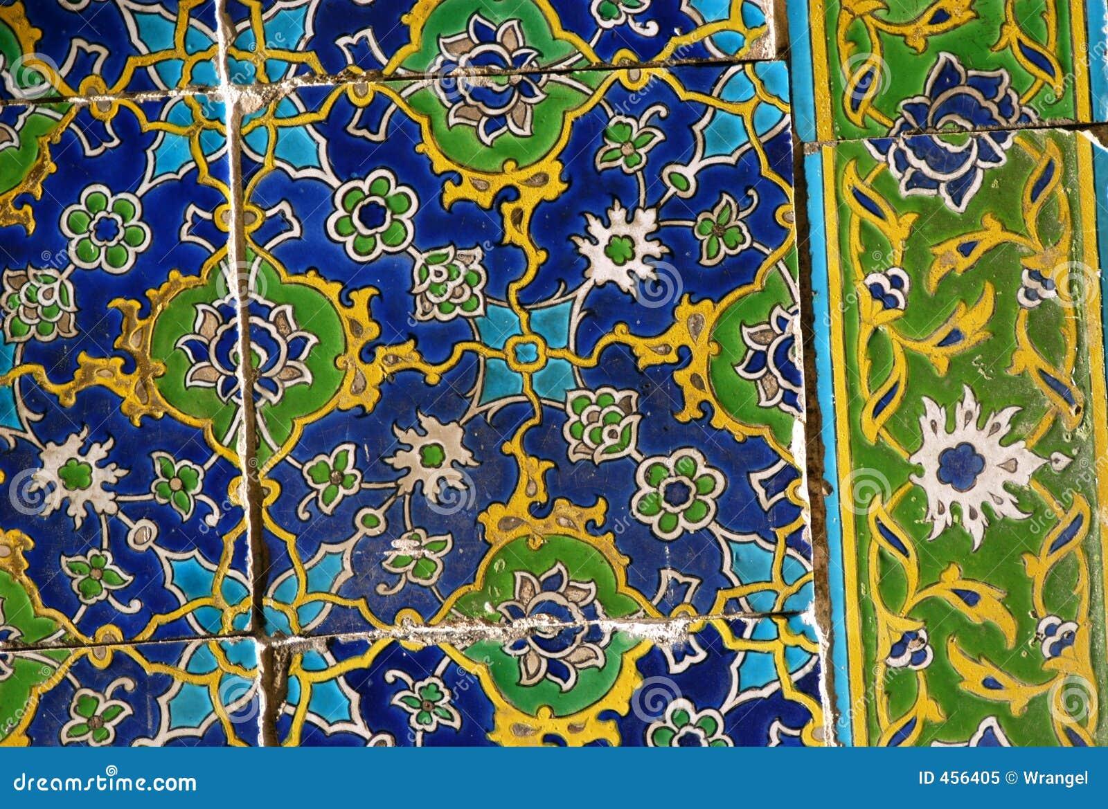 Azulejos del esmalte de Iznik