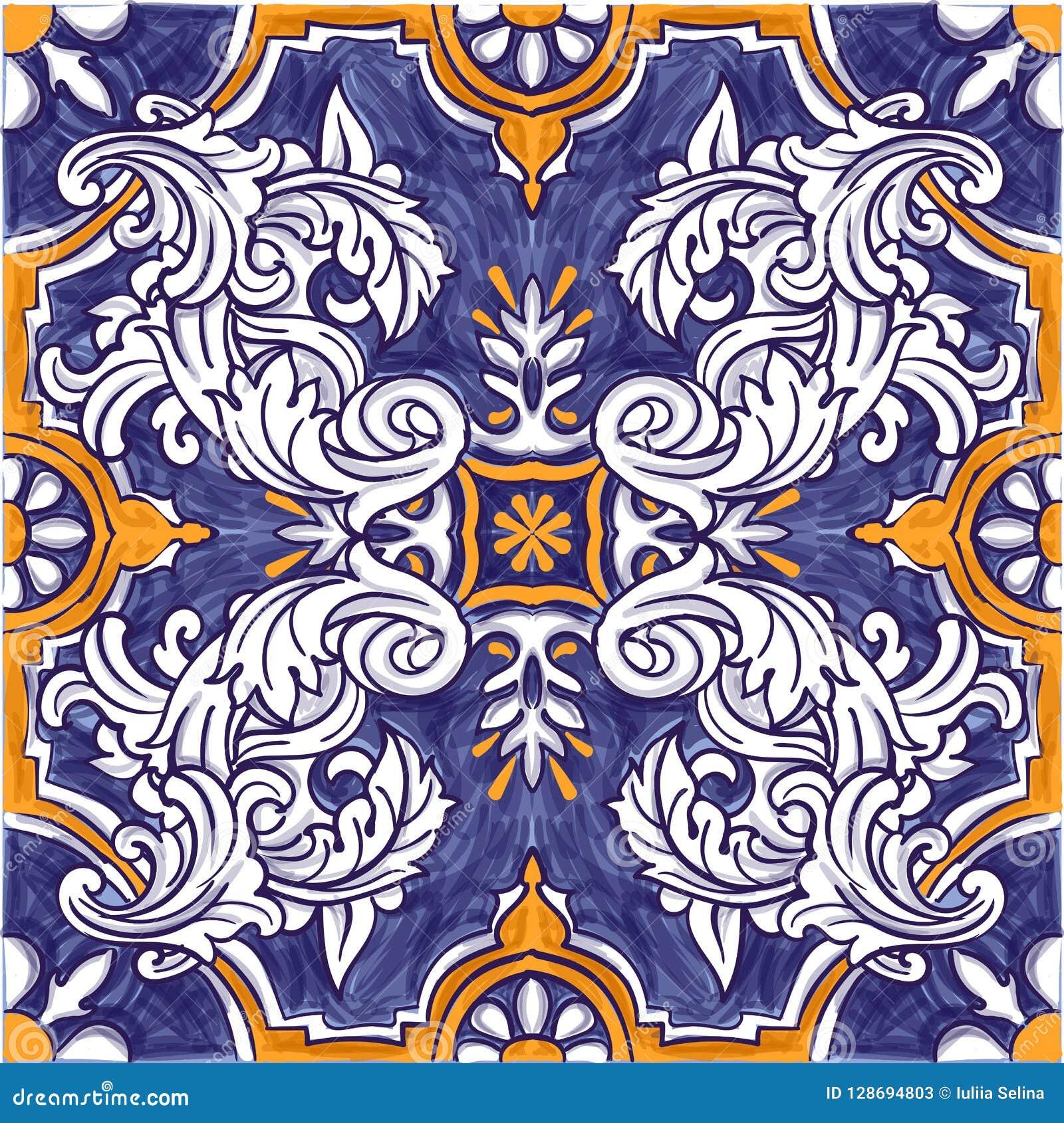Azulejos portugisvattenfärg
