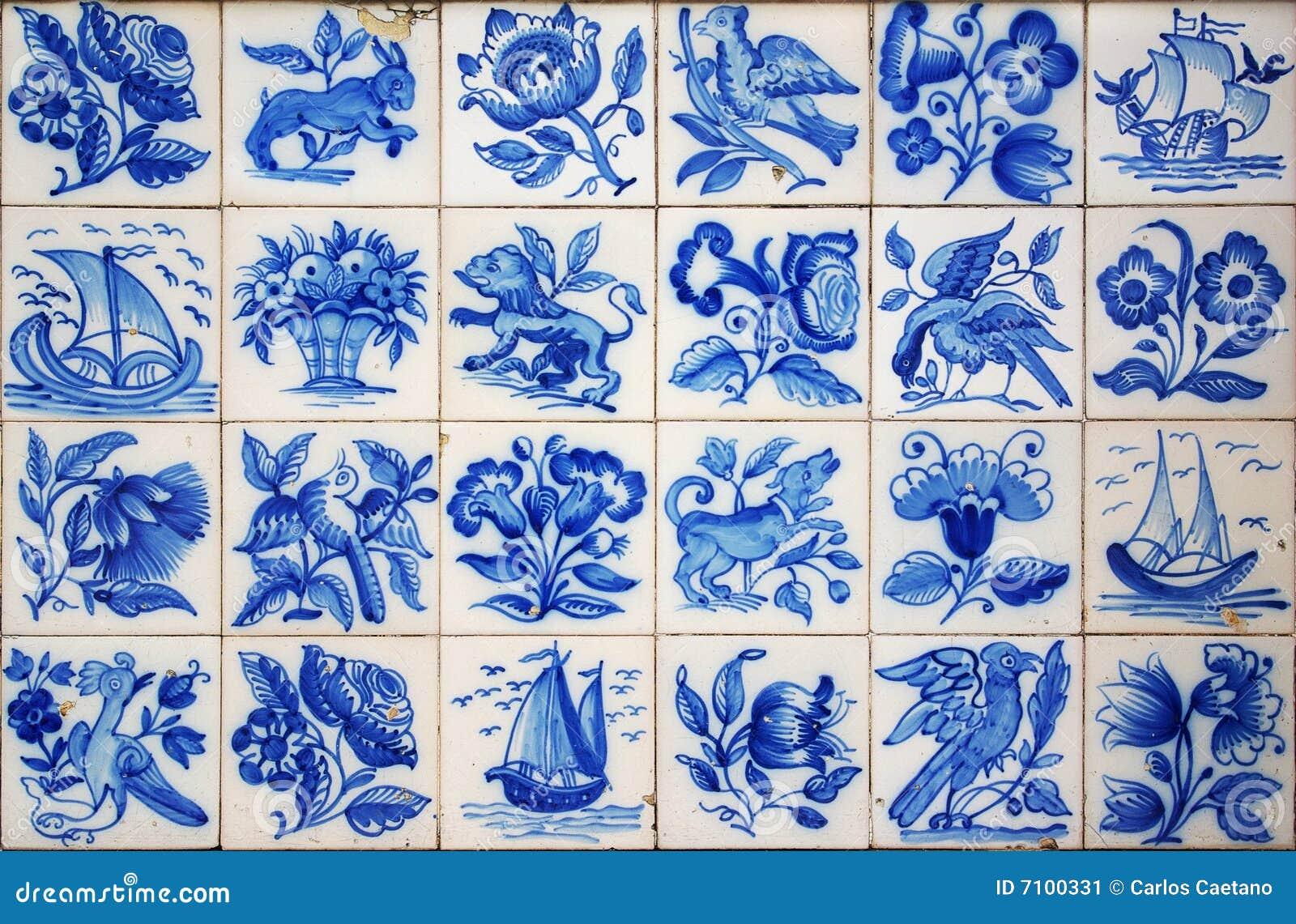 Azulejos portugueses imagen de archivo imagen de panel for Azulejos clasicos