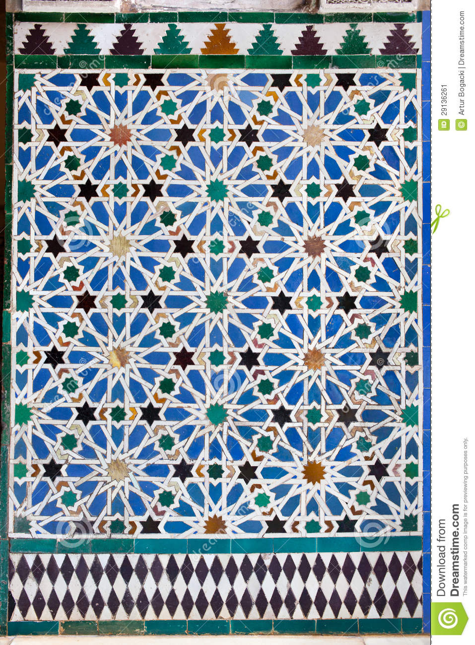 Azulejos Tiled Wall In Mudejar Style Stock Image Image