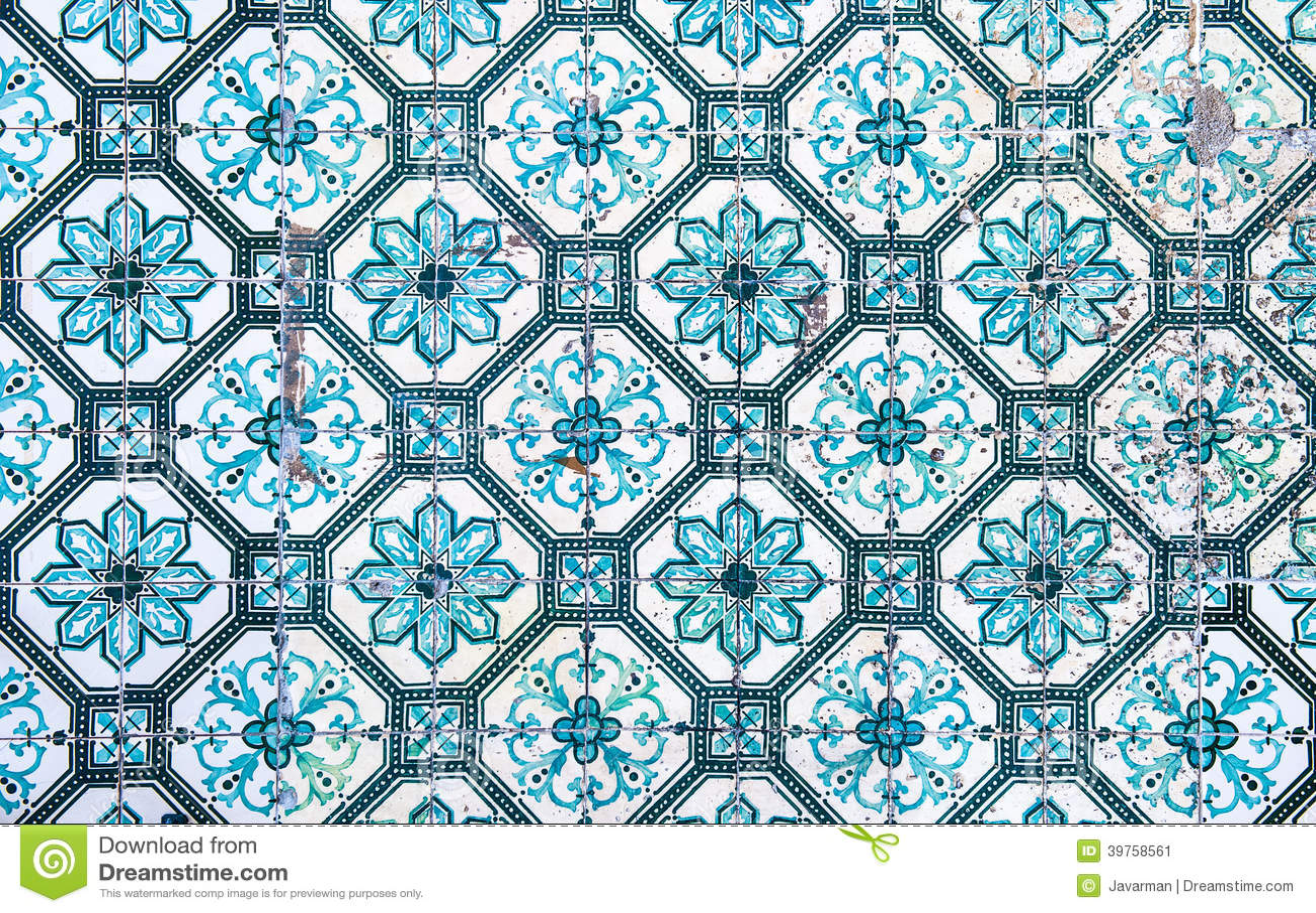 Azulejos Traditional Portuguese Tiles Stock Illustration
