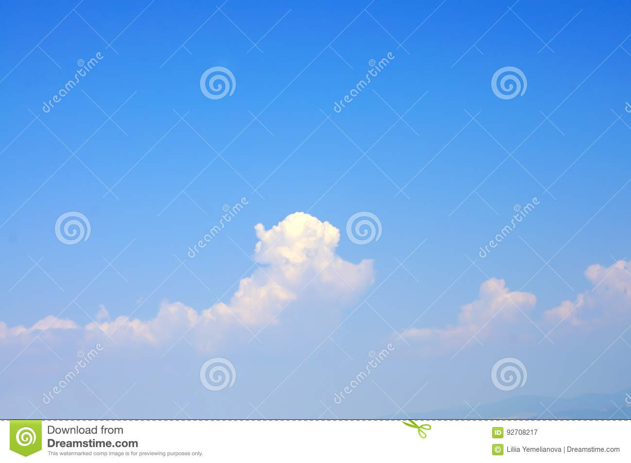 azure blue sky with cumulonimbus clouds wallpaper of rel stock image