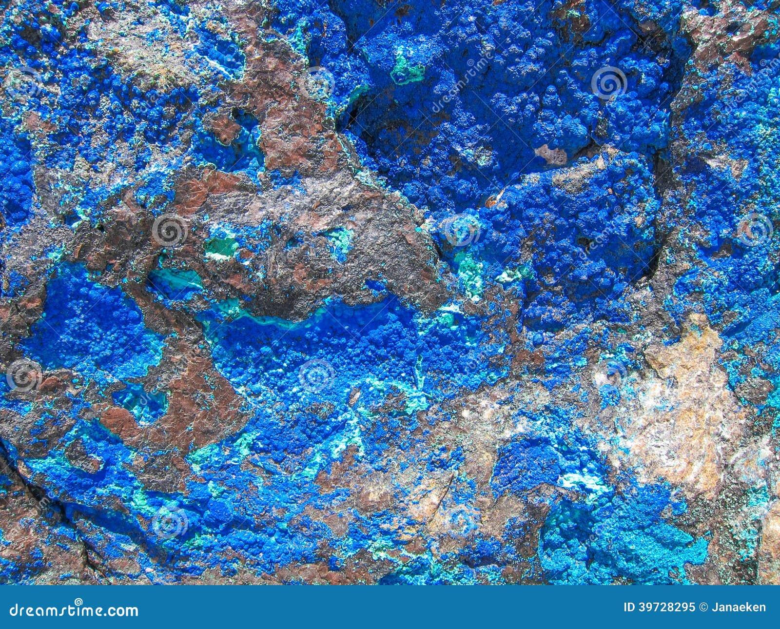 Azurite background stock image  Image of malachite, nature