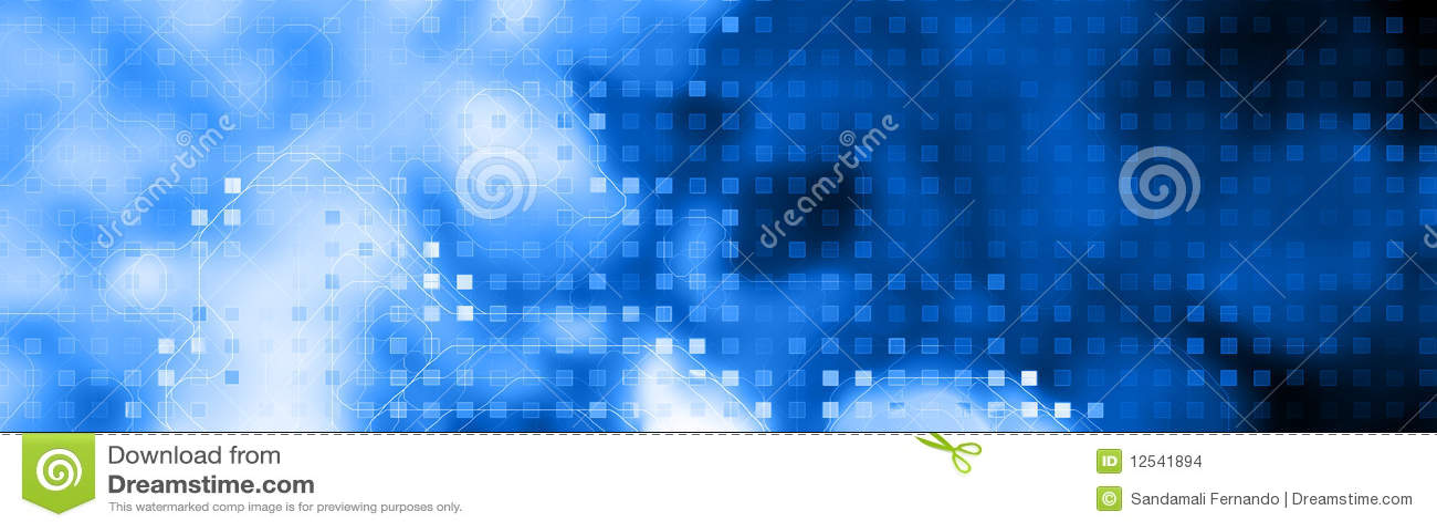 Azzurro dell intestazione di Web di tecnologia
