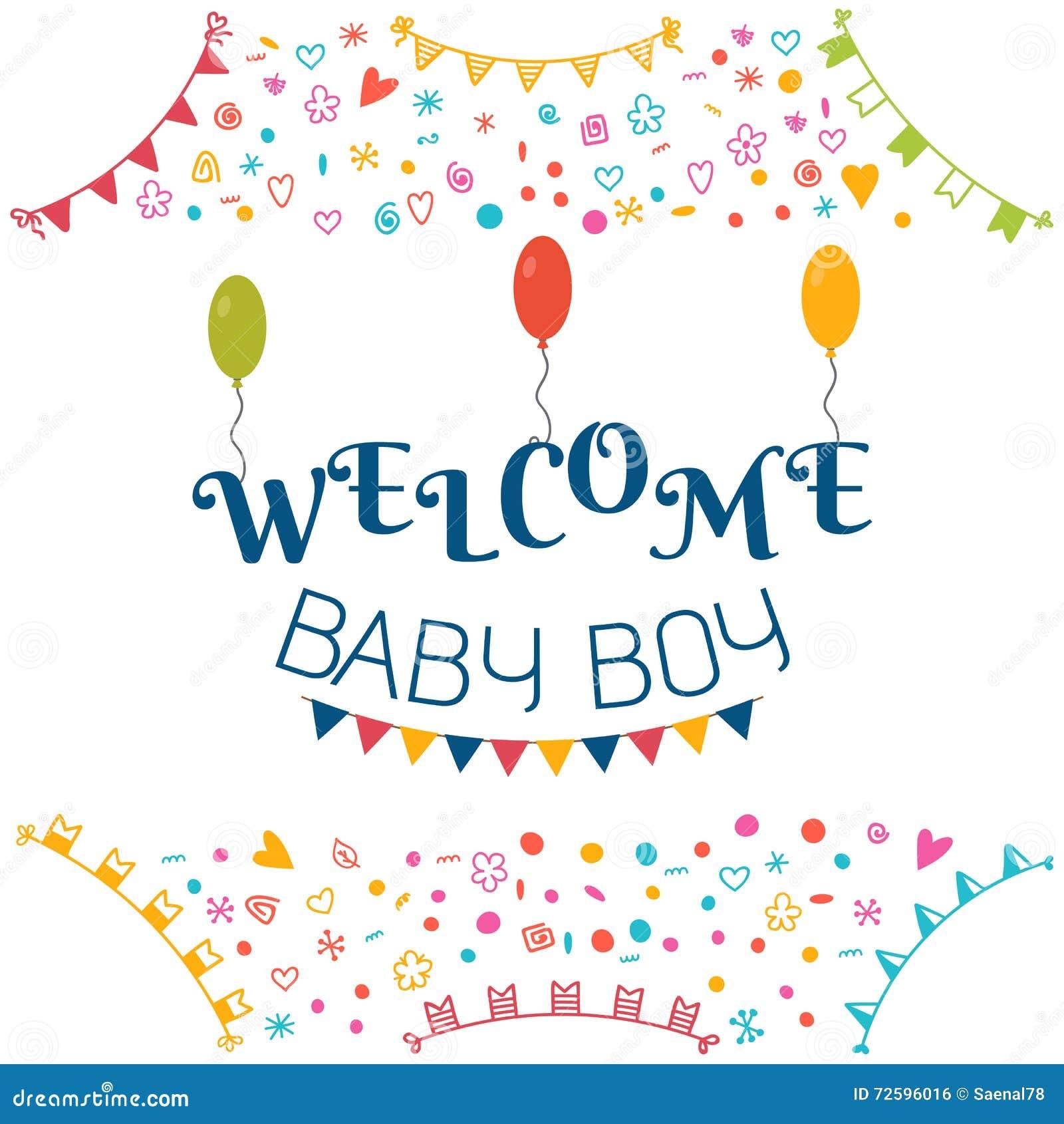 Extrêmement Bébé Bienvenu Carte De Voeux De Fête De Naissance Showe Mignon De  IR67
