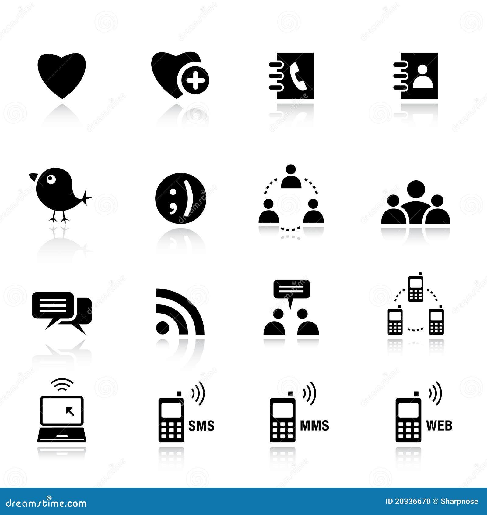 Básico - ícones sociais dos media